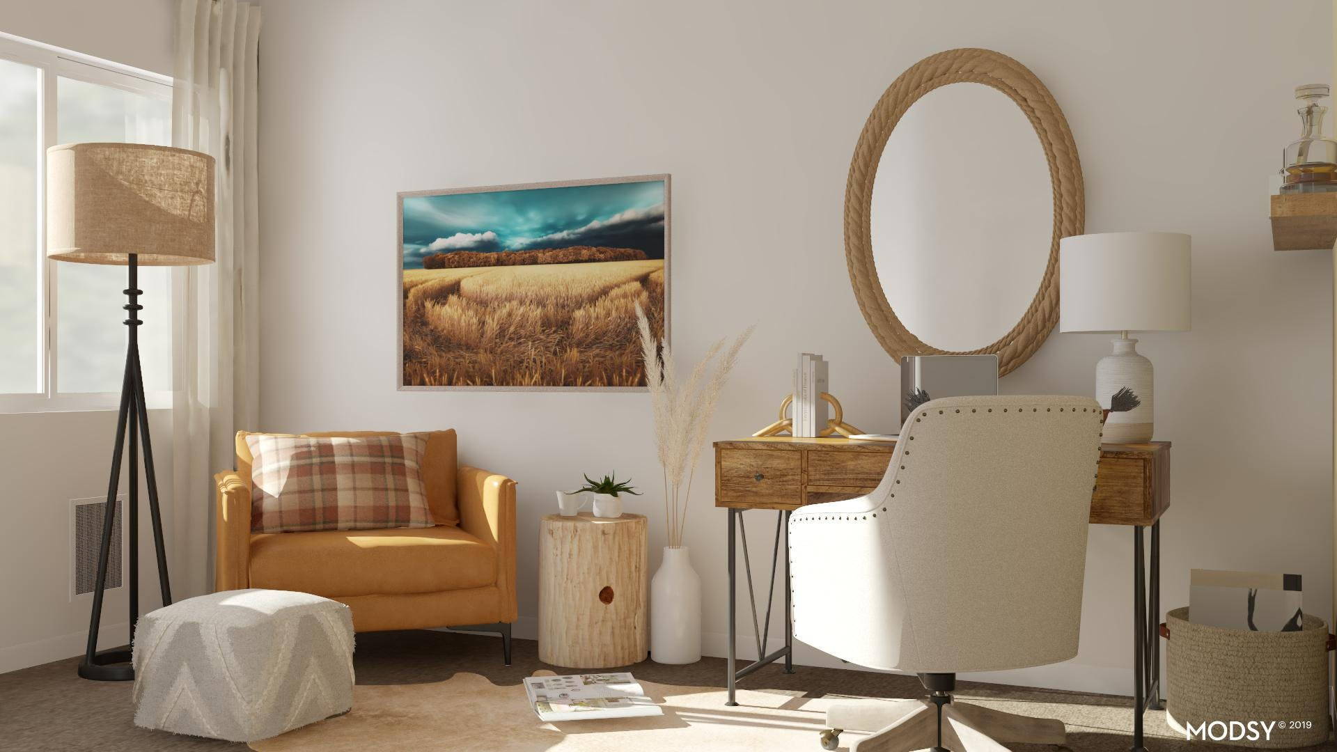 Pastoral Roots: Rustic Office