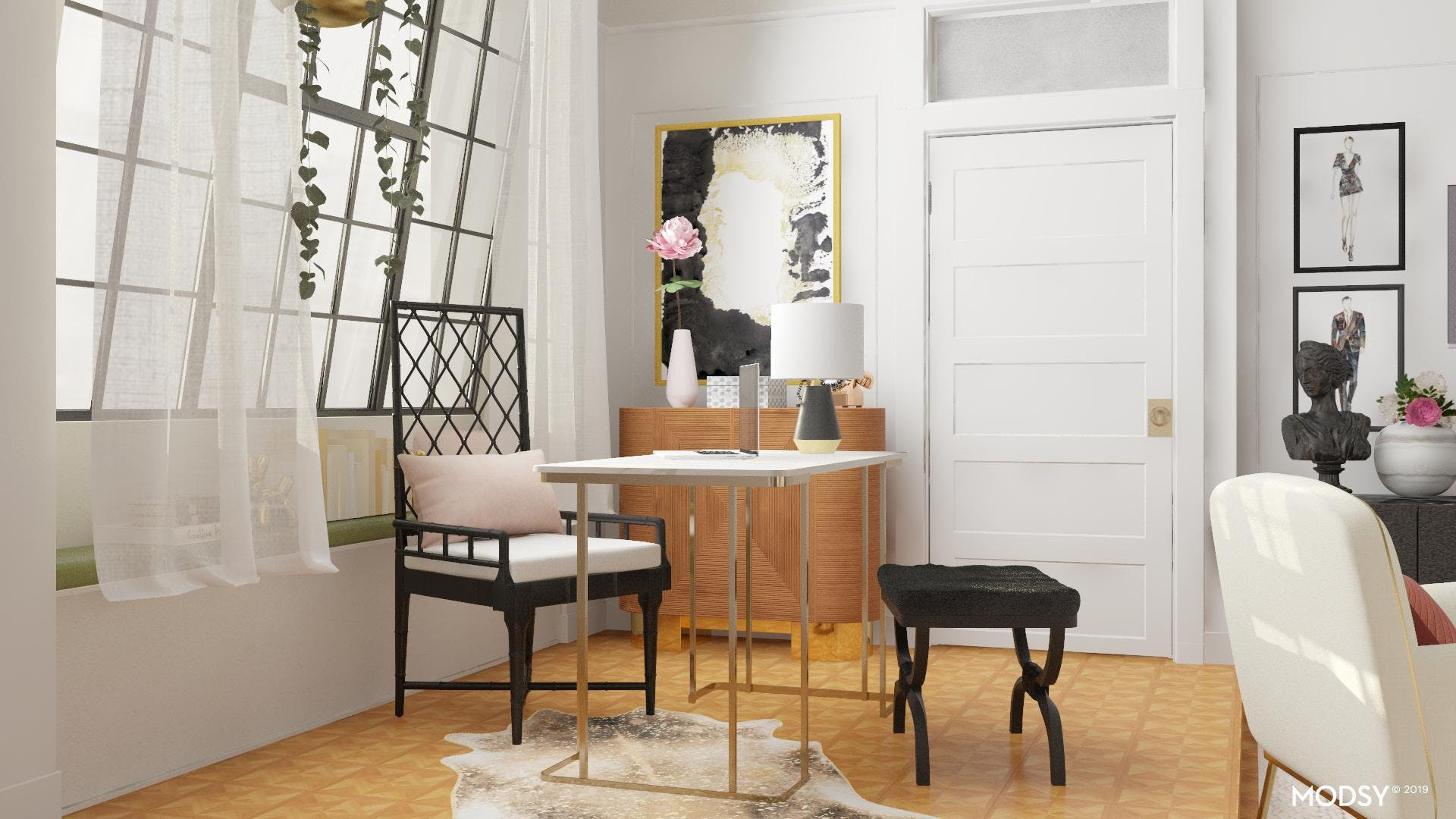 Eclectically  Chic Office Space