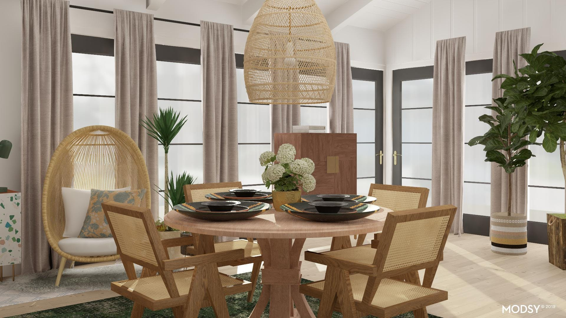 Neutral Dining Table