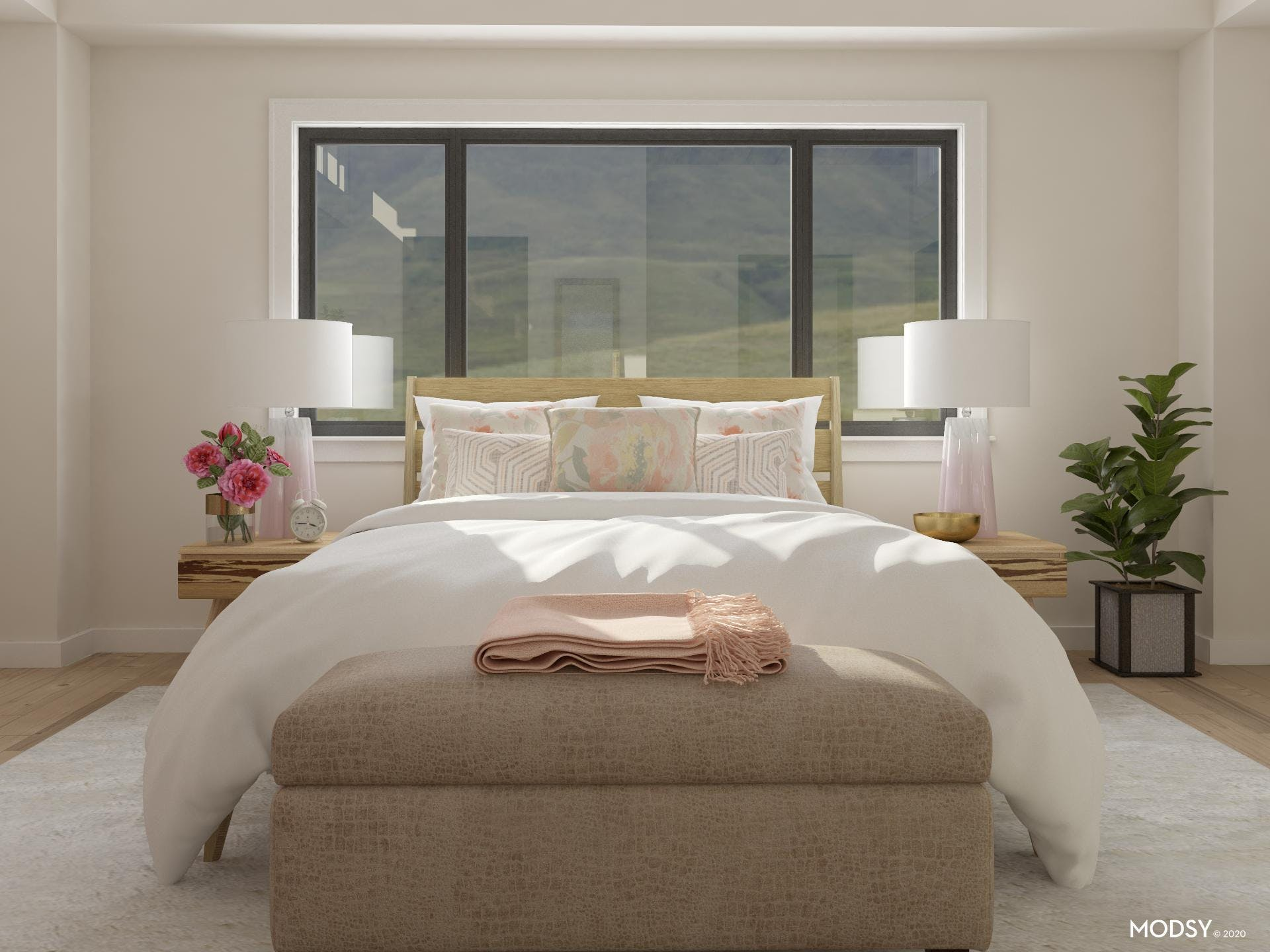 Plush Pastels: Contemporary Bedroom