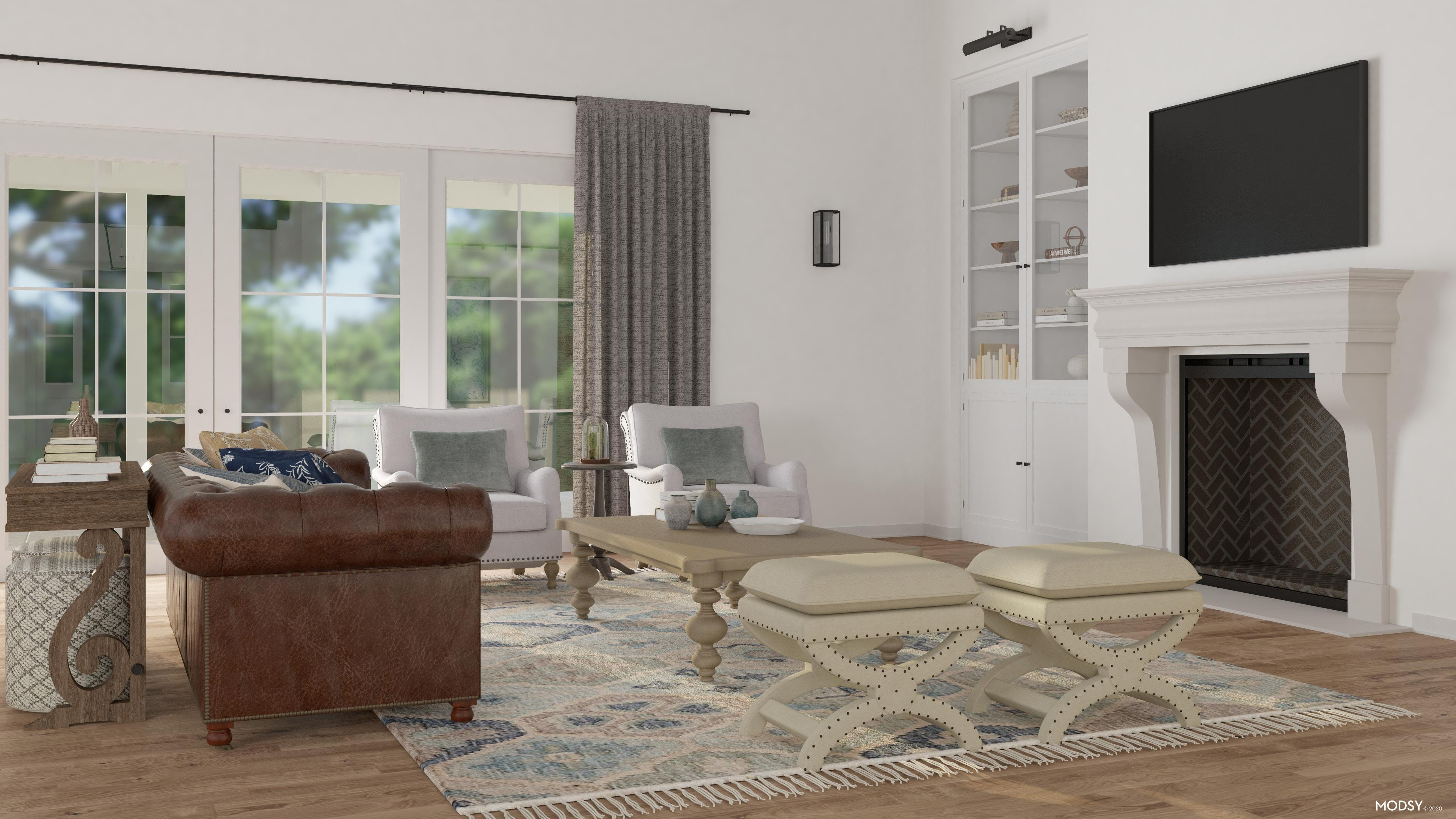 Traditional Living Room: TV Layout