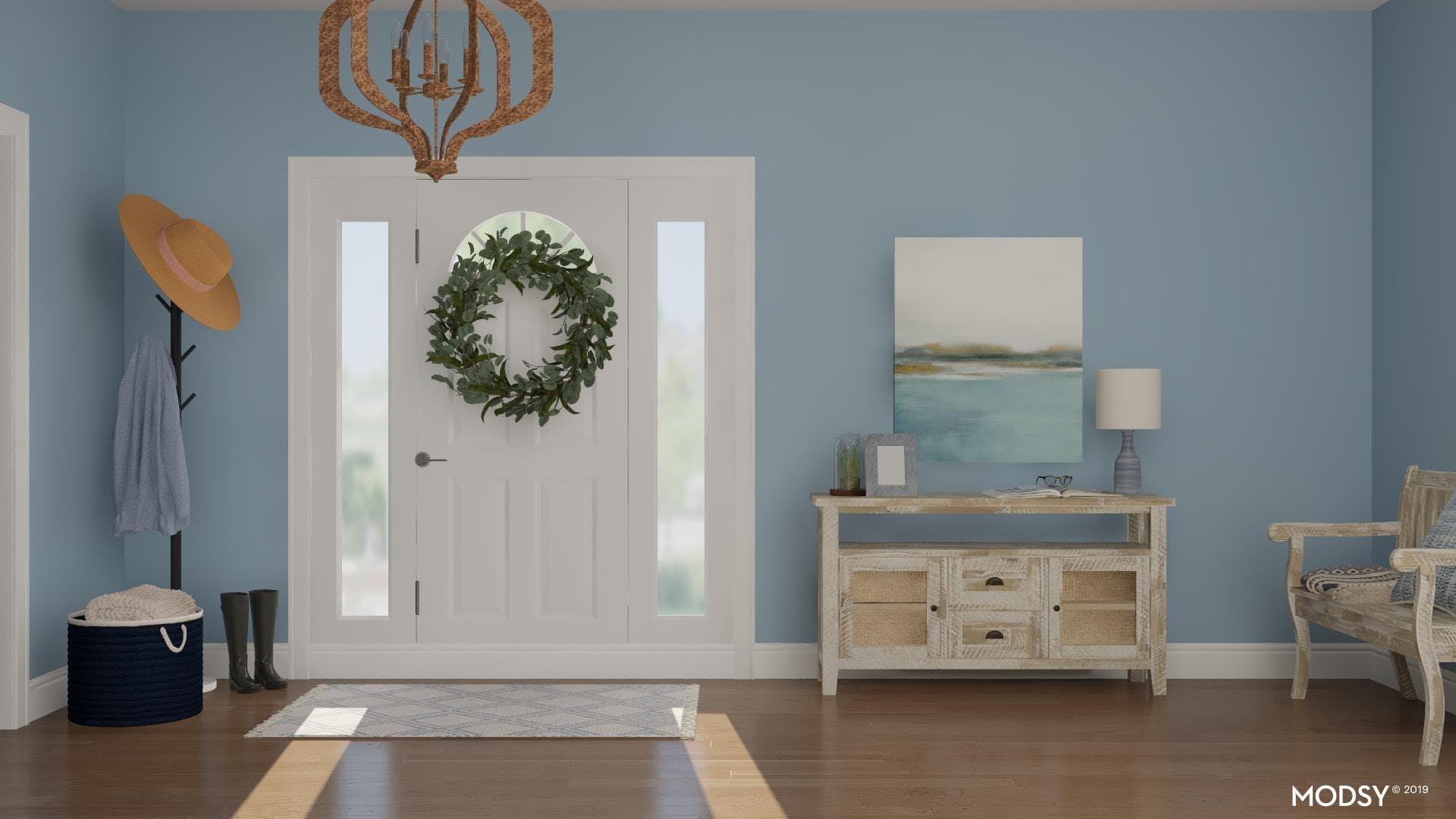 Blue Rustic Entry