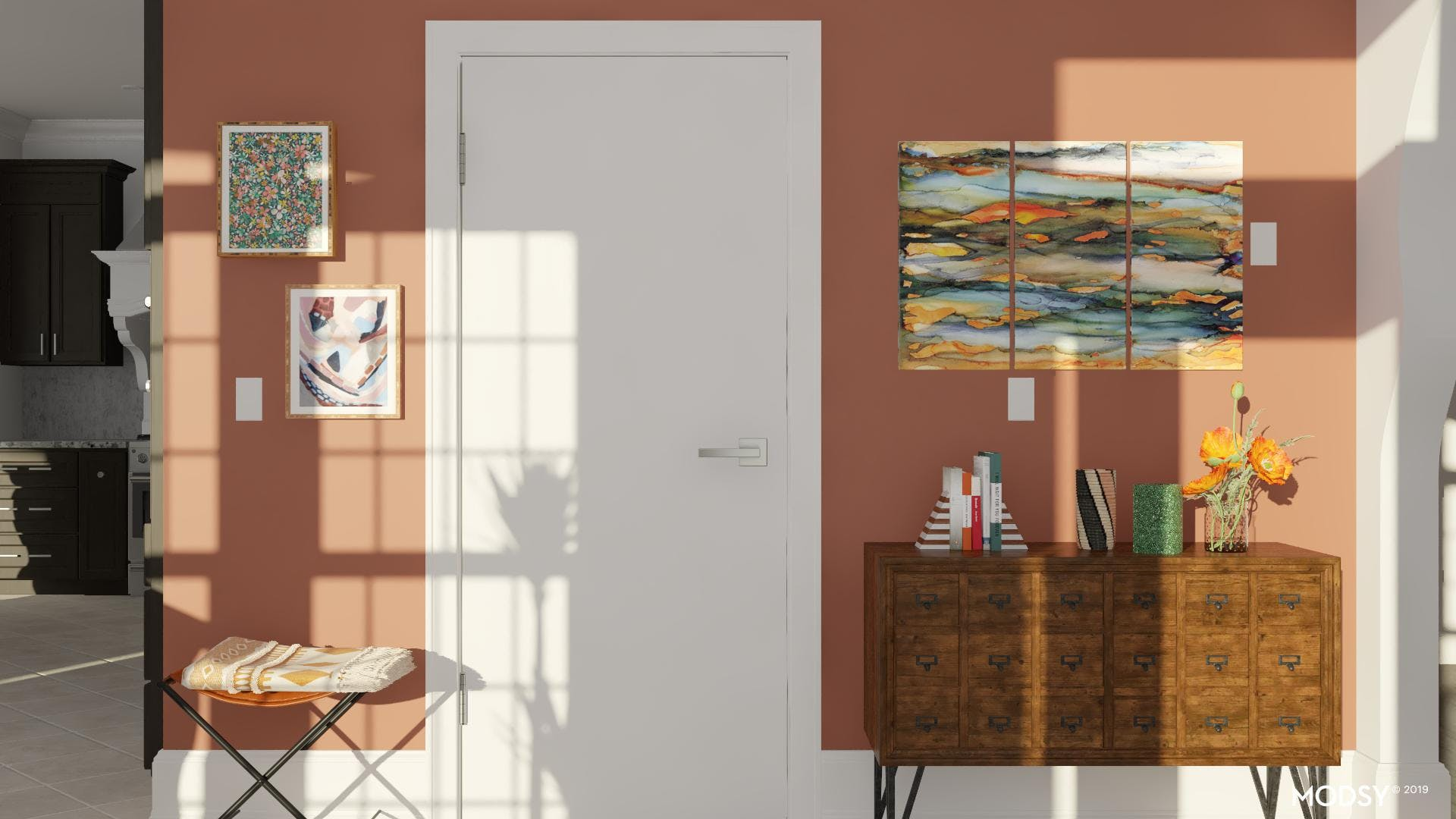 Warm Greeting: Rustic Entry