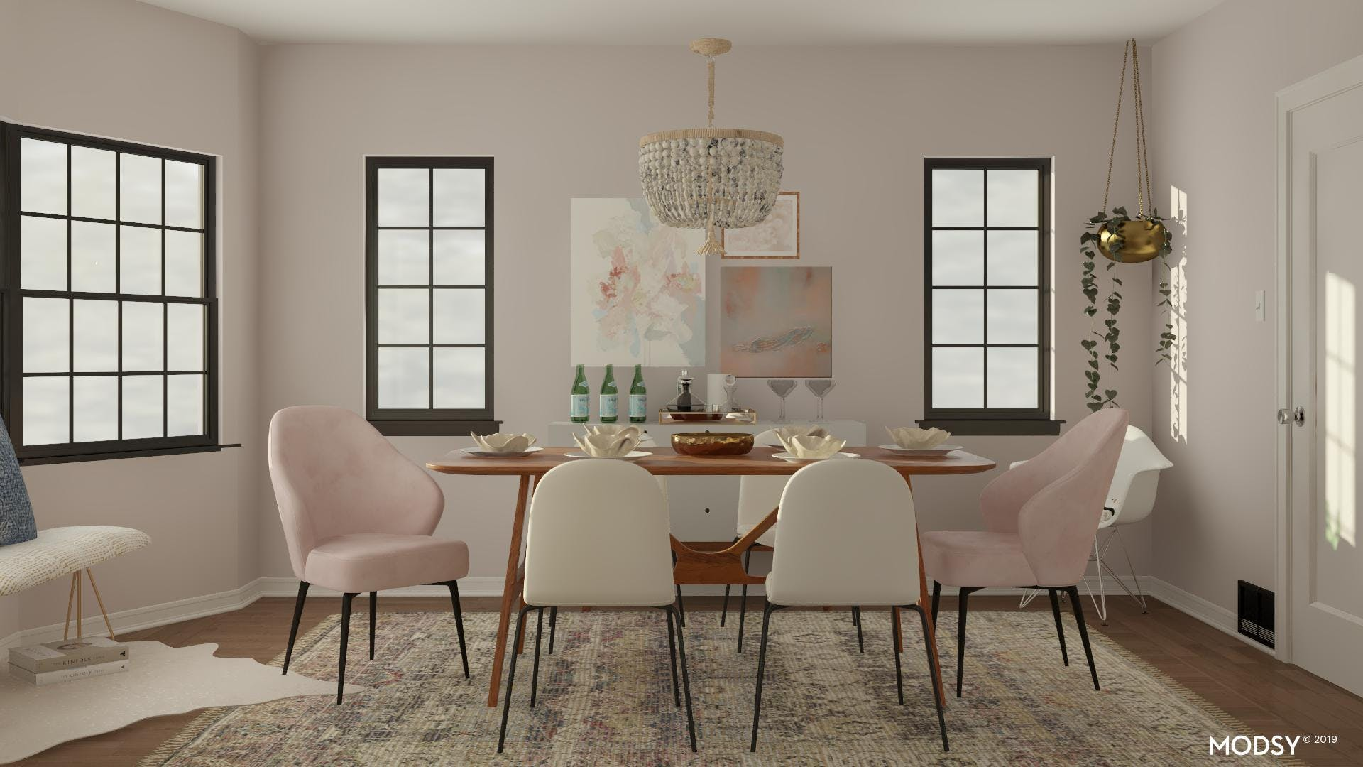 Pretty in Pastels: Modern Dining