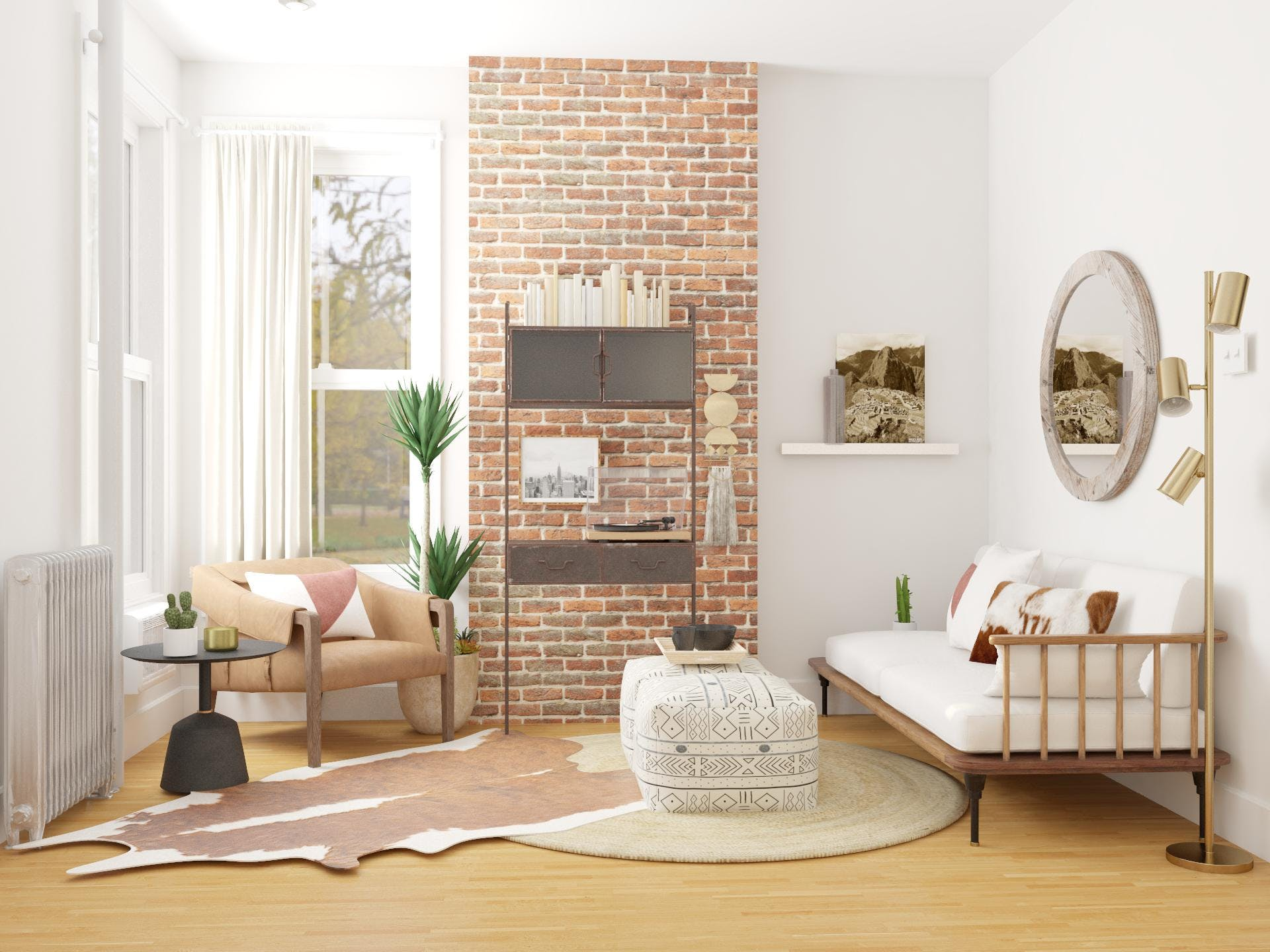 Eclectic Living Room With Conversational Seating