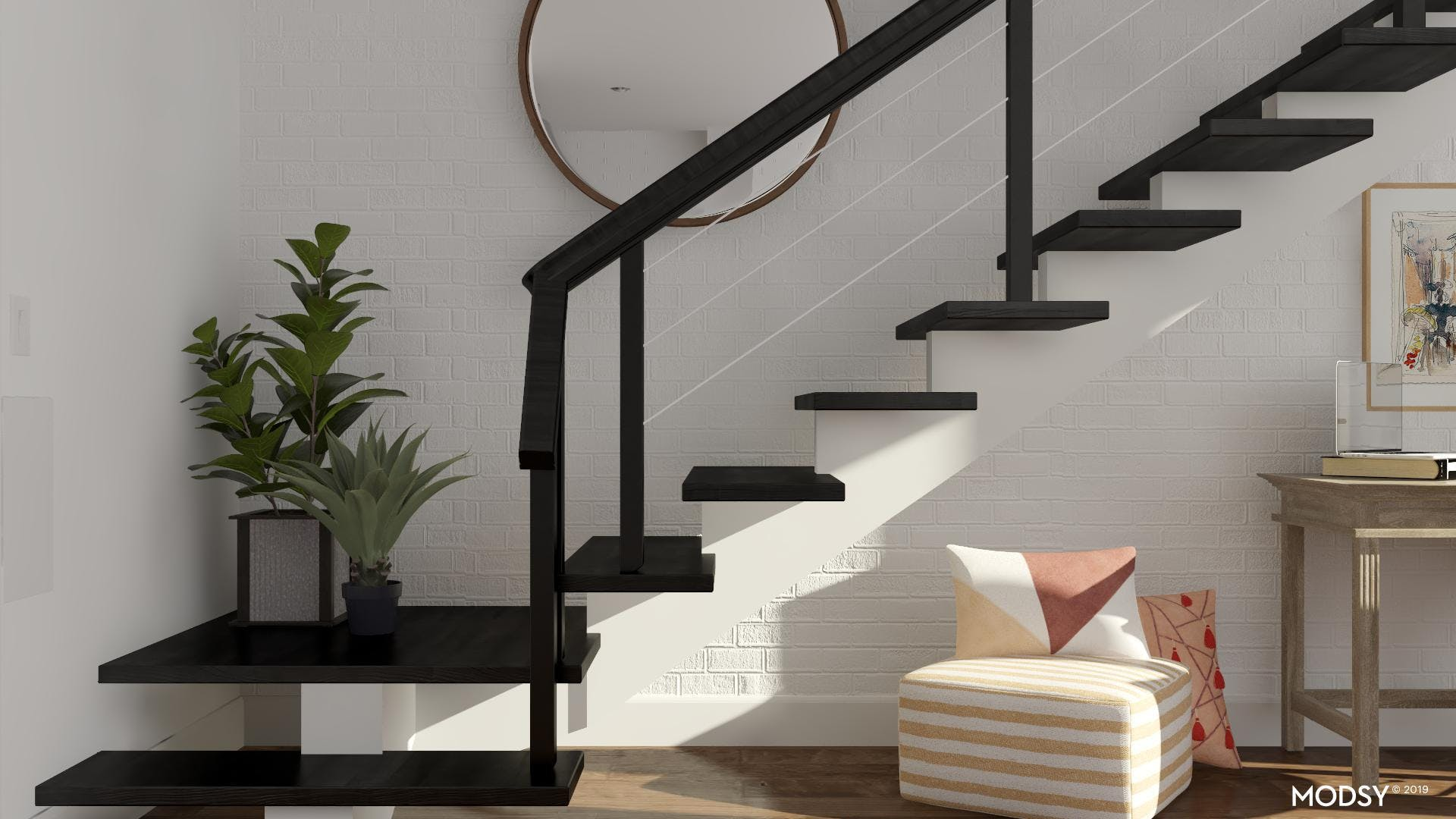 Dressing Up Transitional Spaces: Stairwell