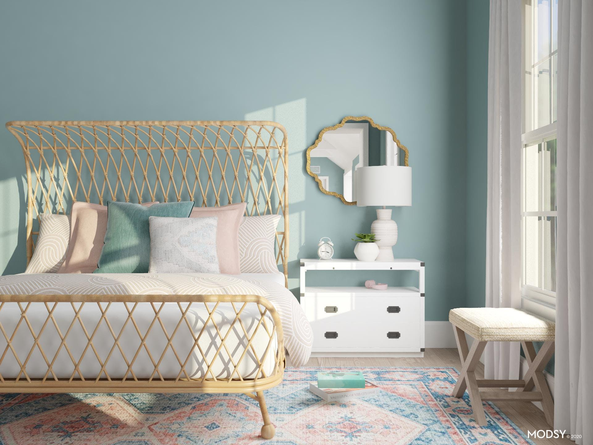 Aegean Teal Bedroom Design
