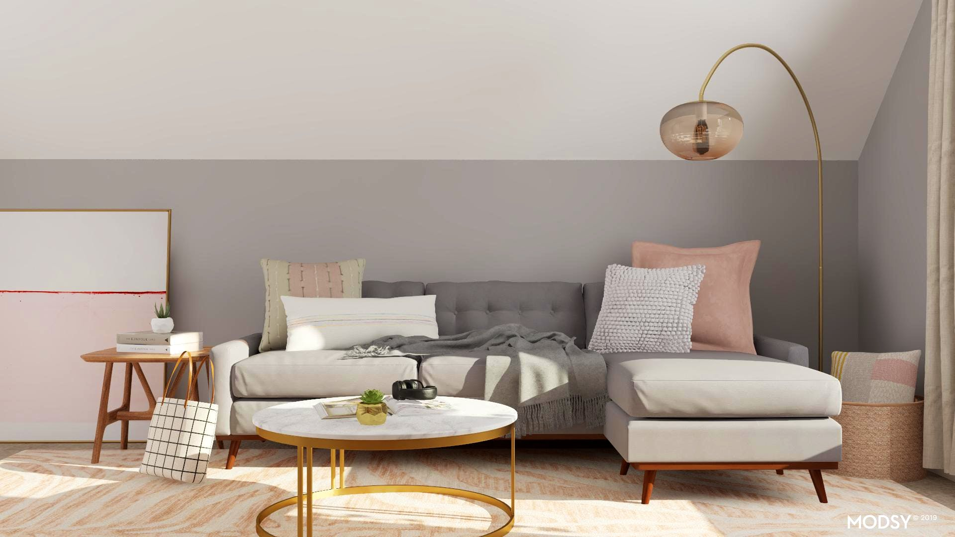 A Living Room Filled With Soothing Pastels