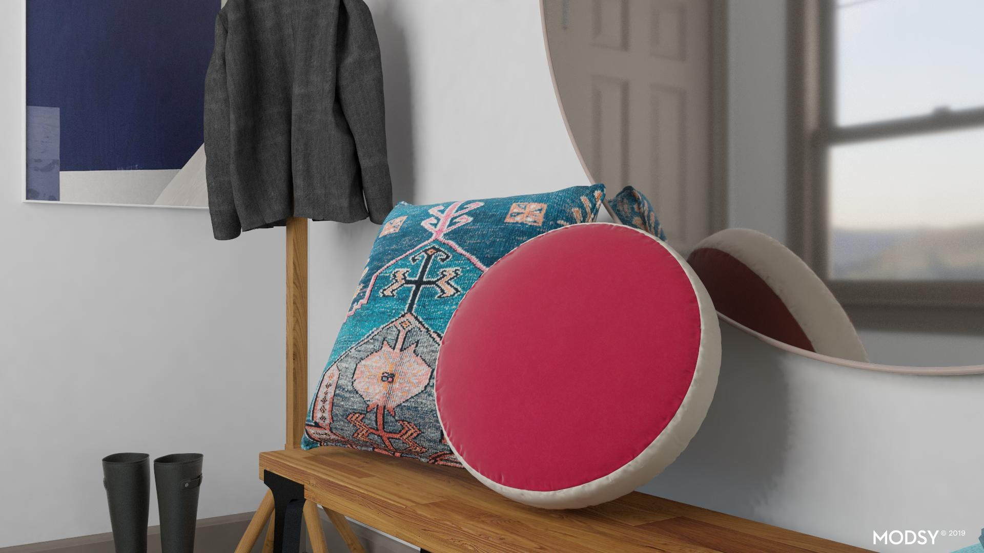 Throw Pillows In Your Entry