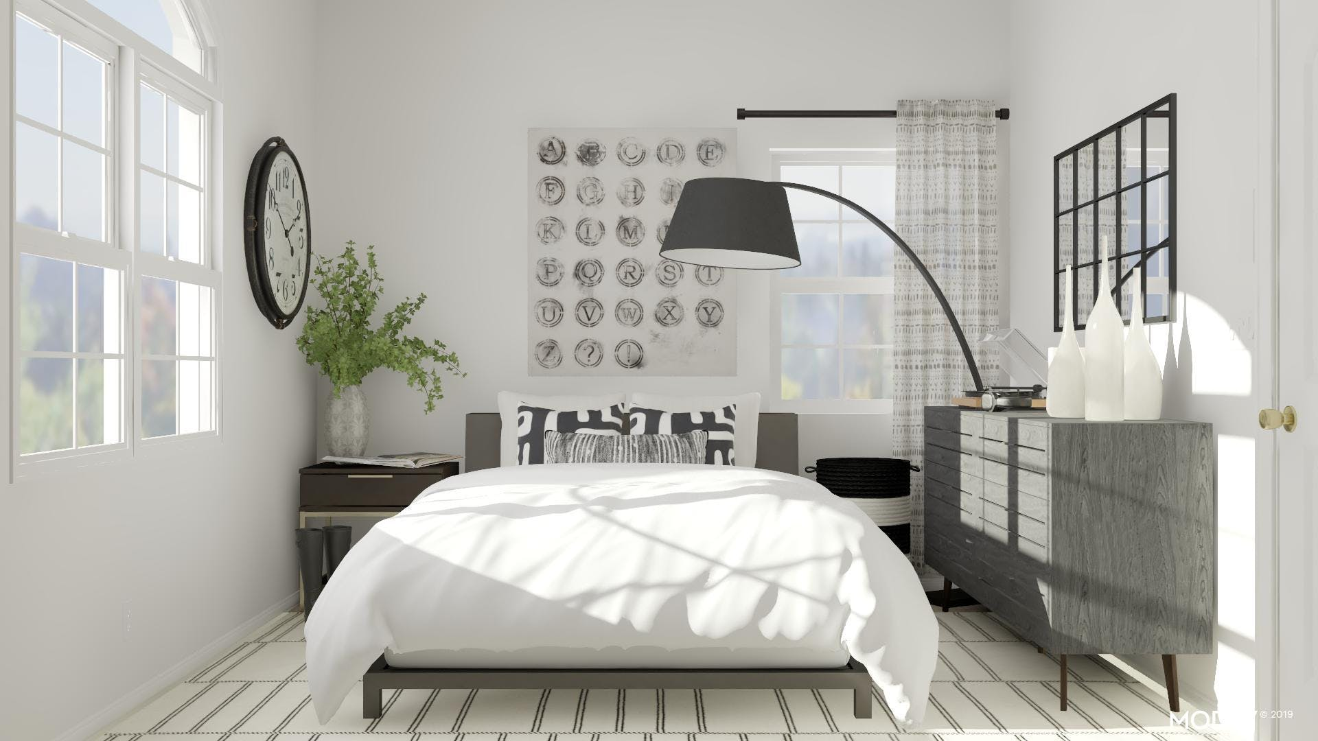 Bedroom, Black And White