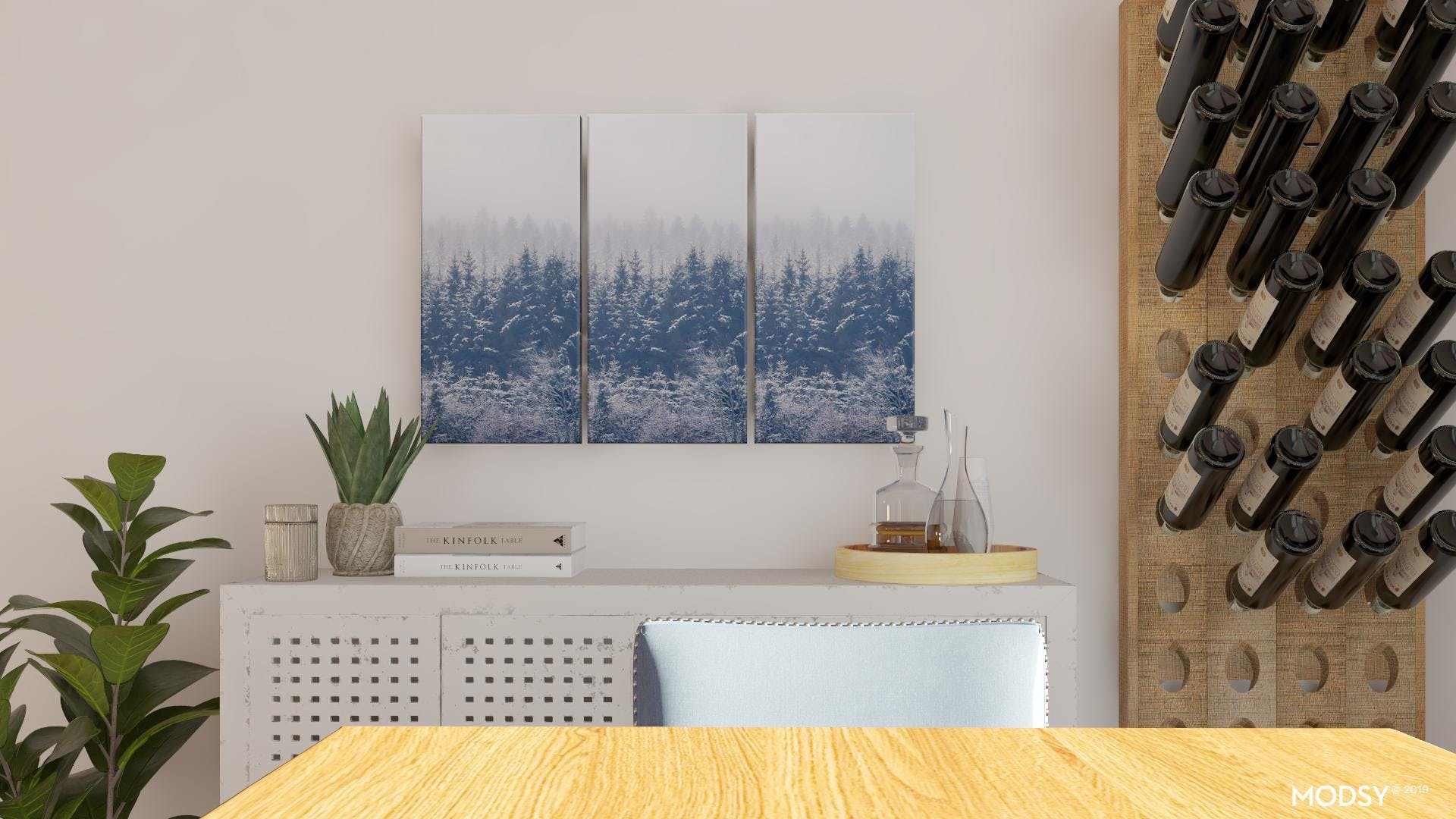 Rustic Blues: Dining Room