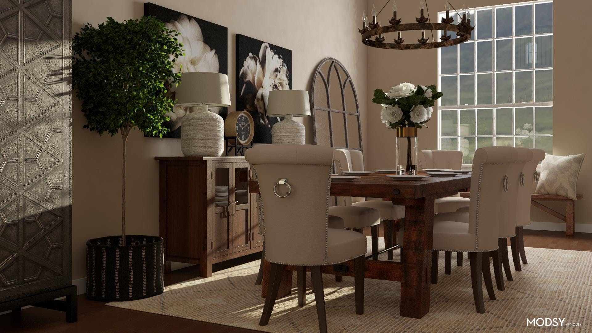 Dramatic Traditional Dining