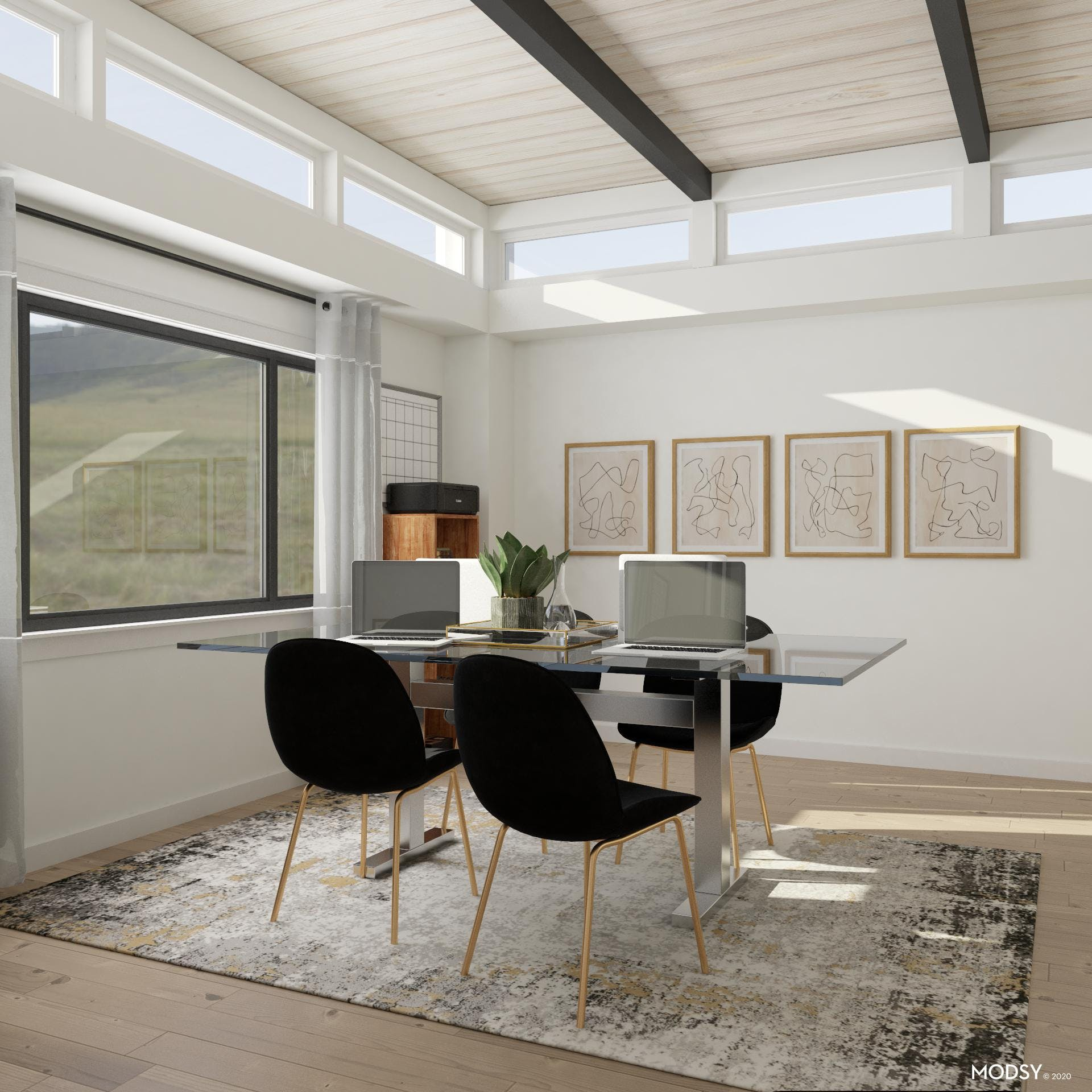 Get to Work in Contemporary Style