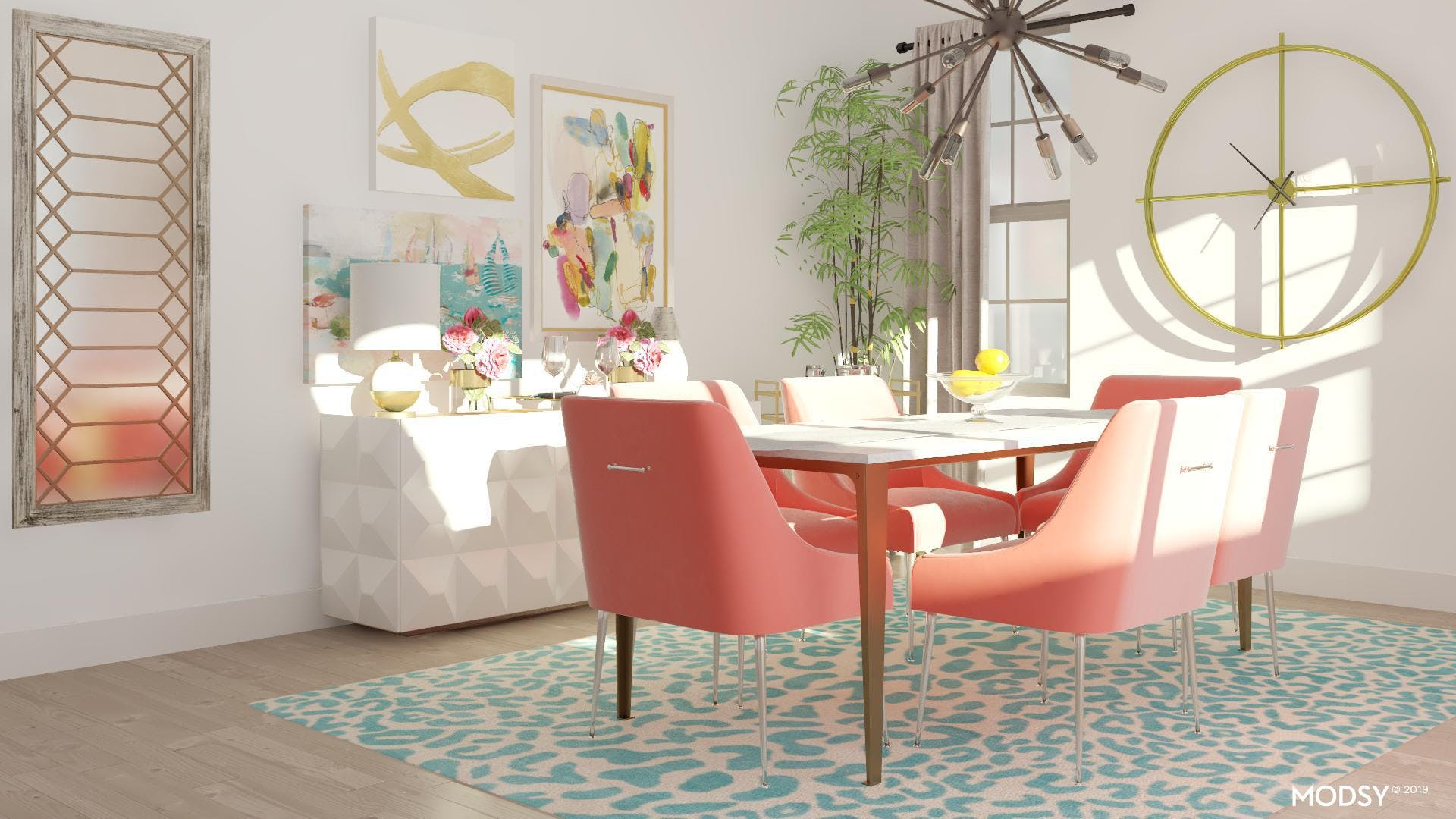 Give Your Glam Dining Room a Pop of Pastel