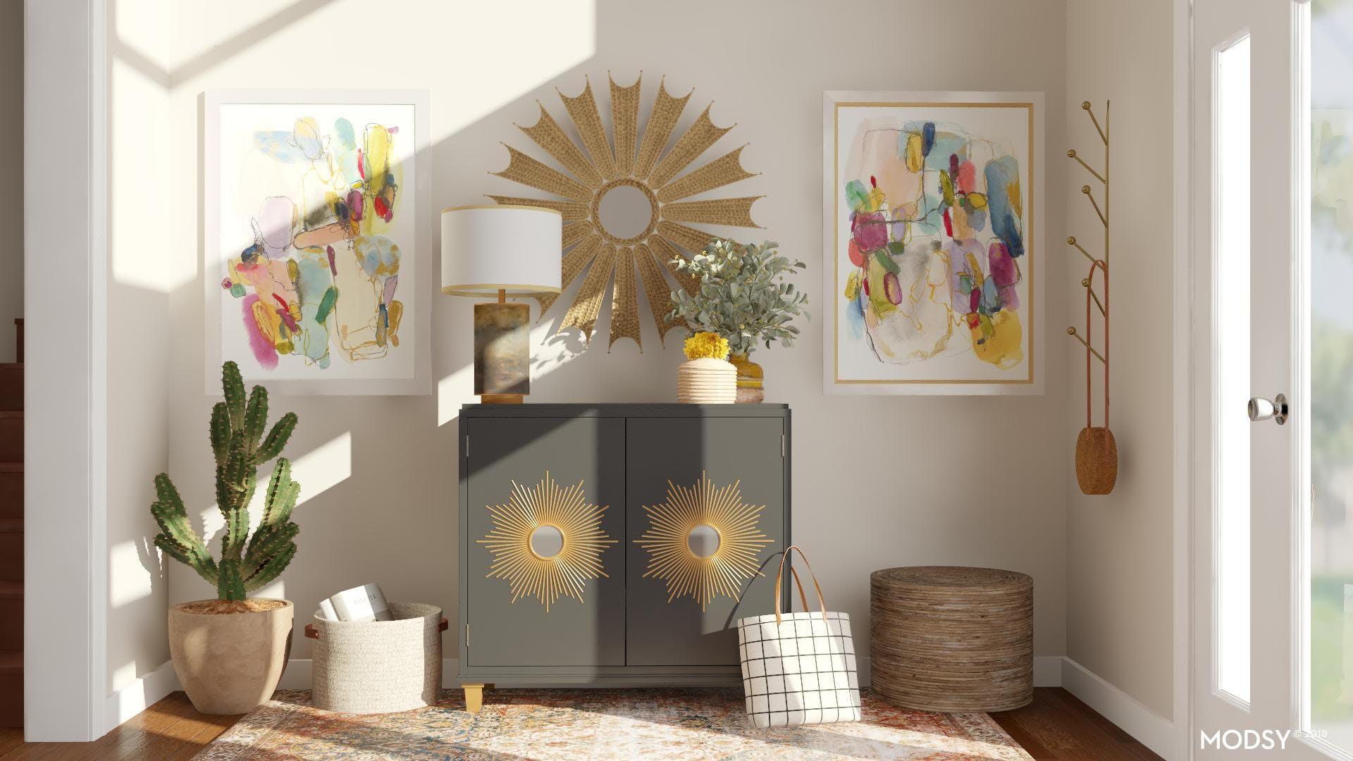 Kid Friendly Eclectic Entryway