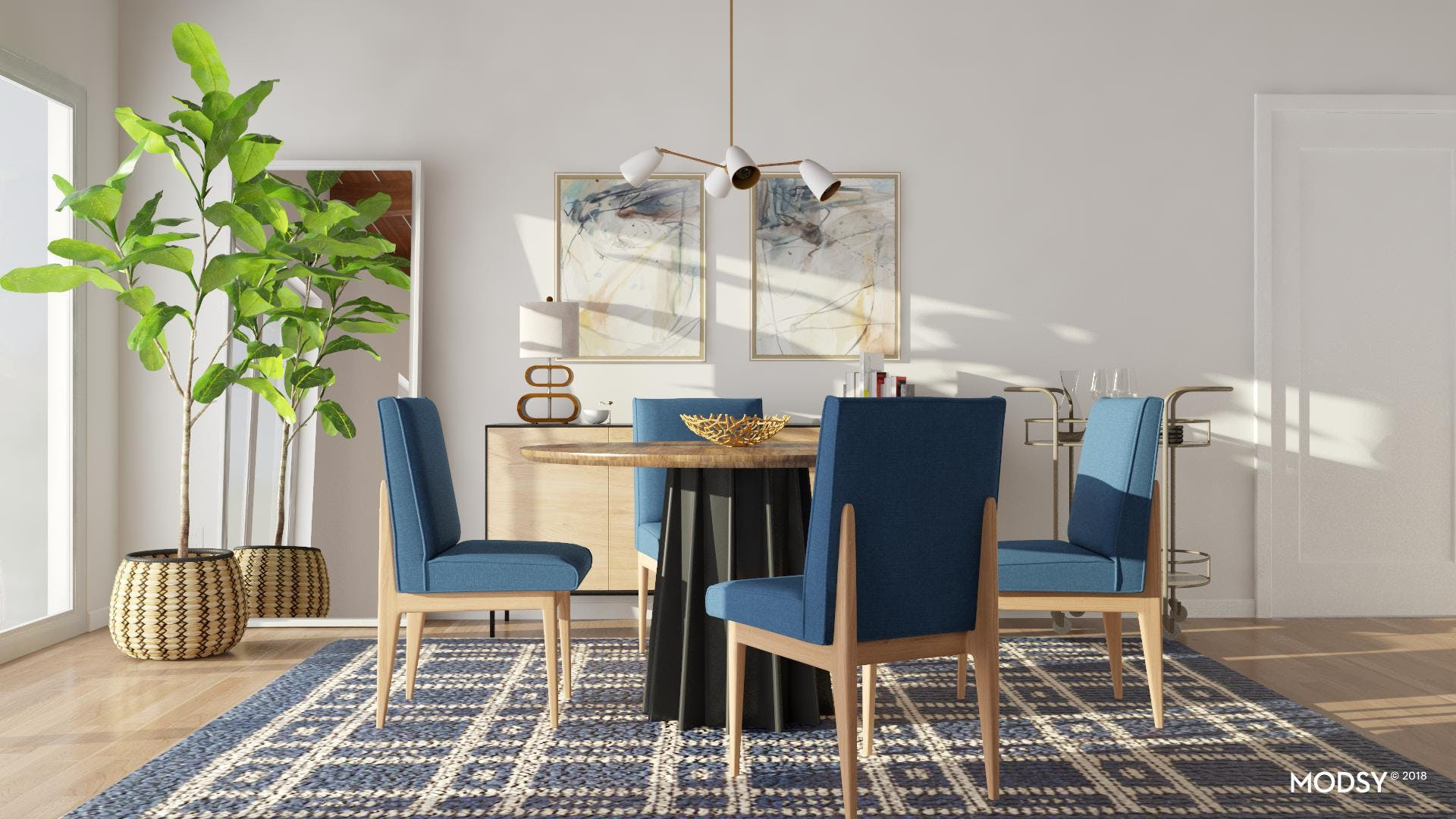 A Coolly Modern Dining Room