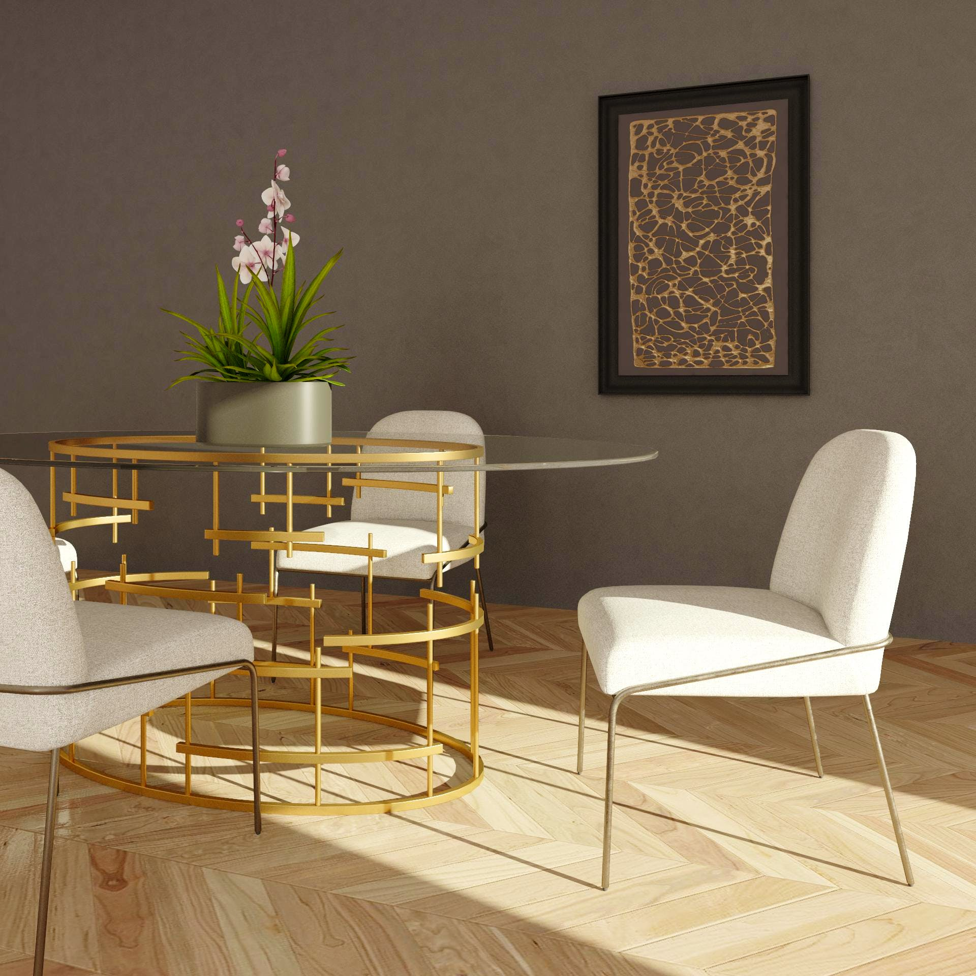 All that Glitters is Gold Dining Room