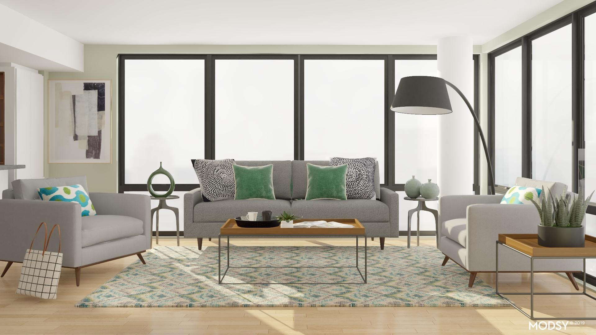 Industrial Flair Living Room
