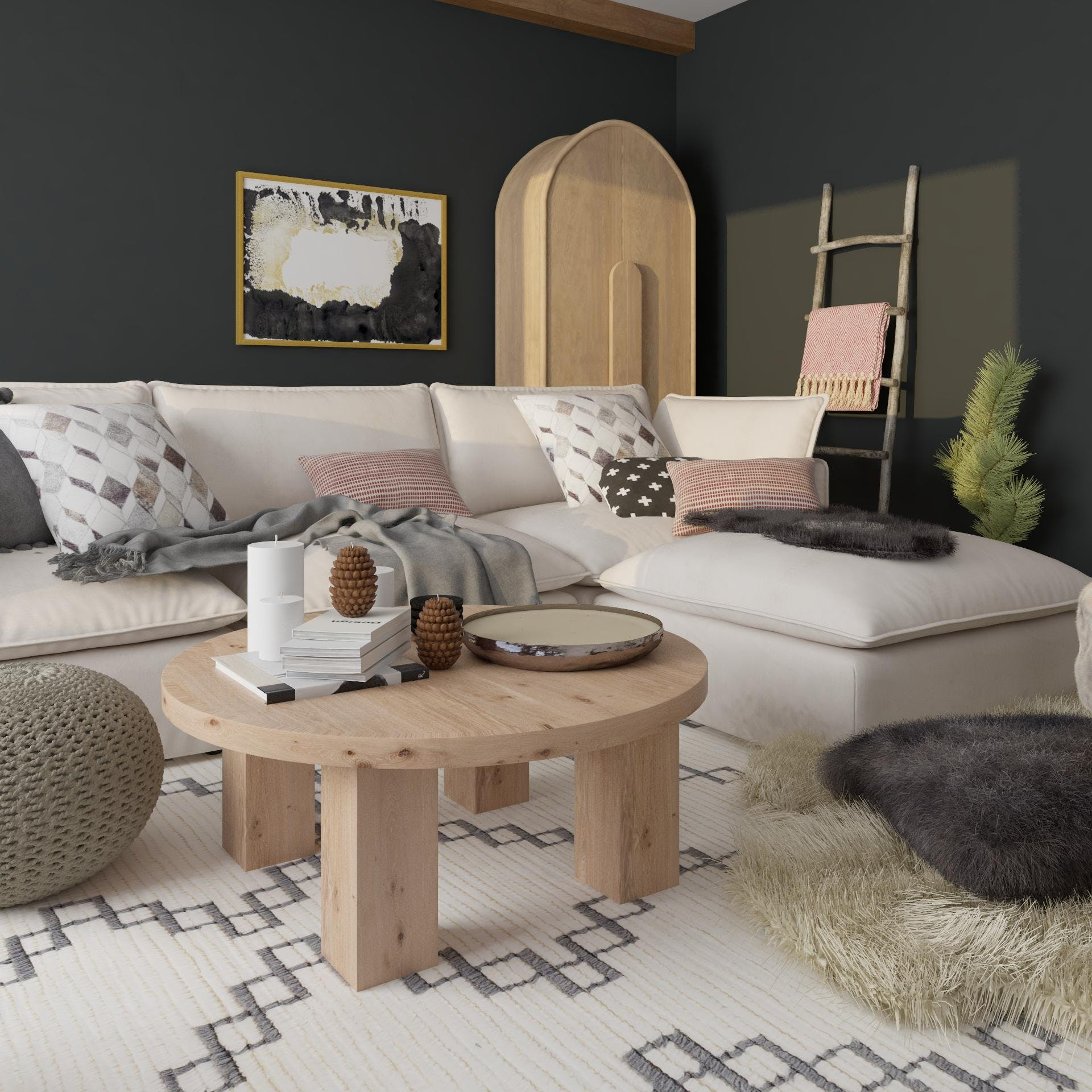 A Hygge-Inspired Living Room Full of Cozy