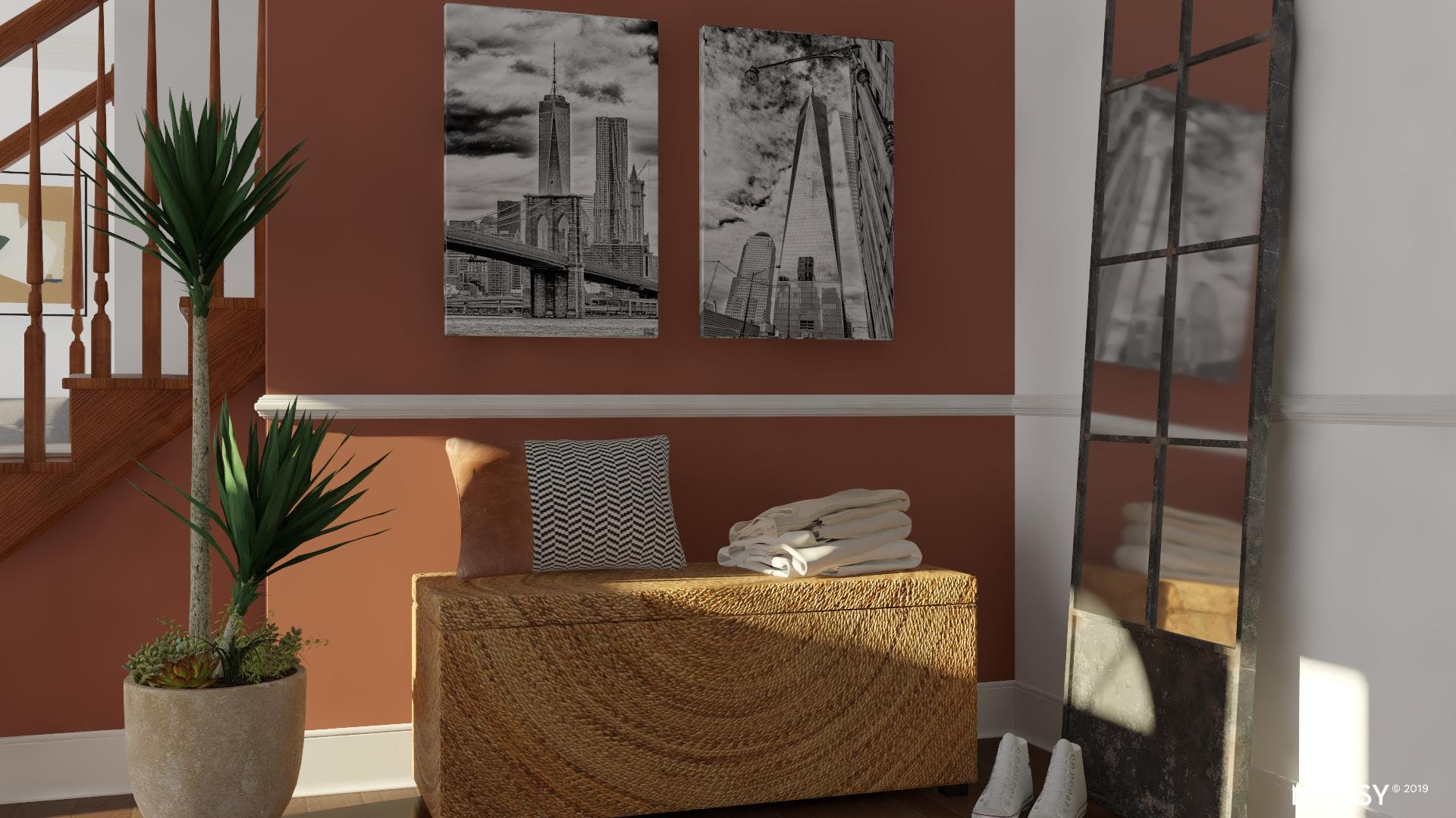 Industrial Diptych: Small Space Wall Art