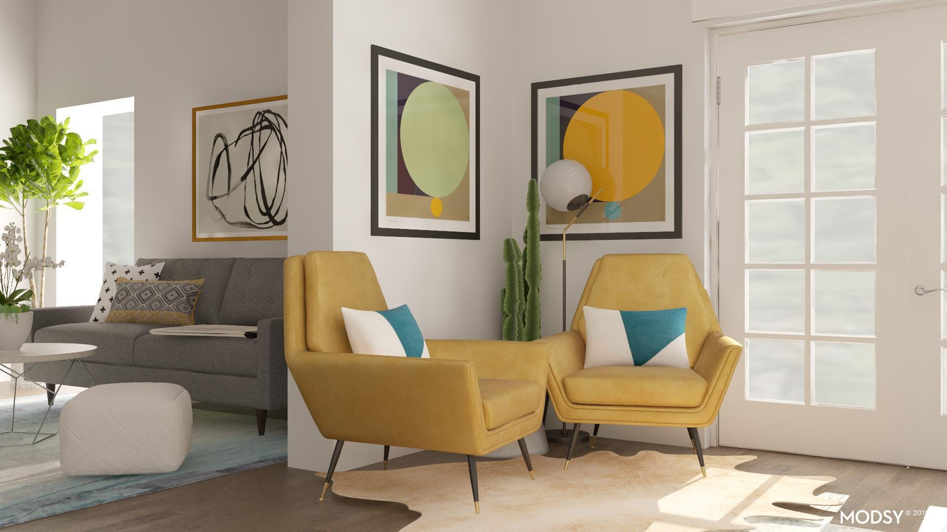 Color Blocking In Mid-Century Modern Dining Rooms