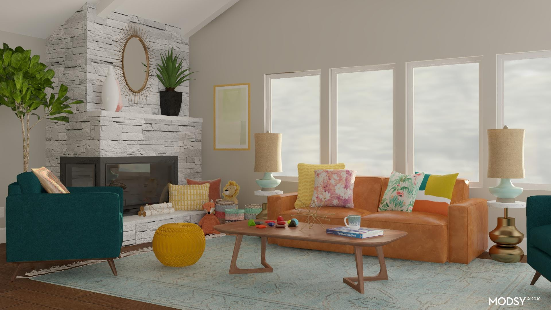 Bright Eclectic Living