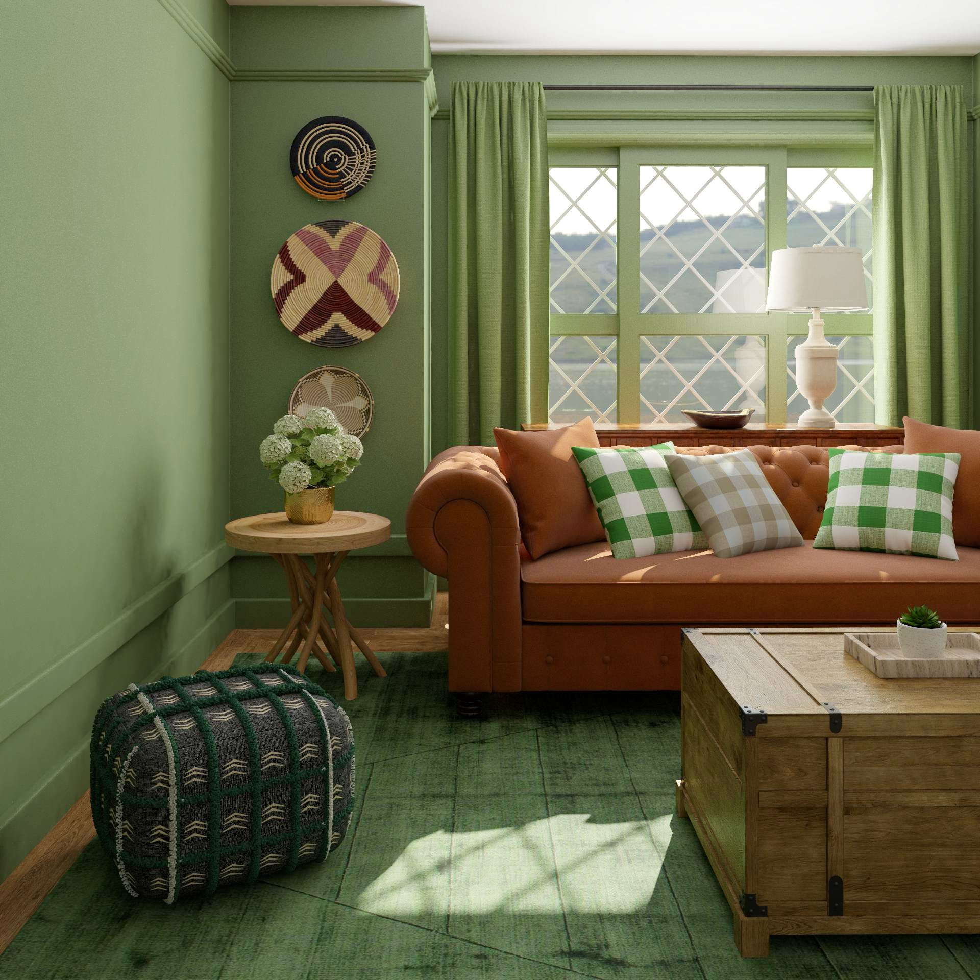 Monochromatic and Majorly Cute Living Room