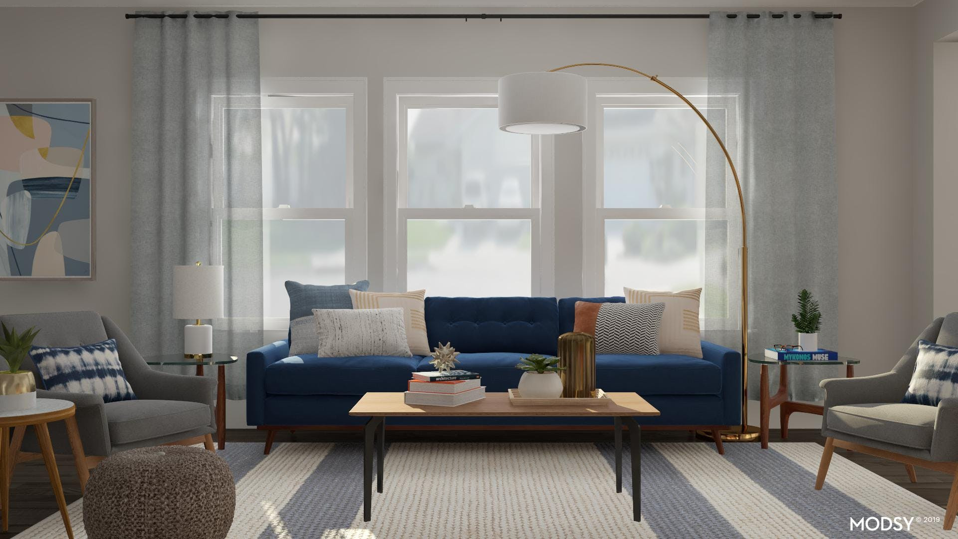 Enhance Your Living Room With Pops Of Blues