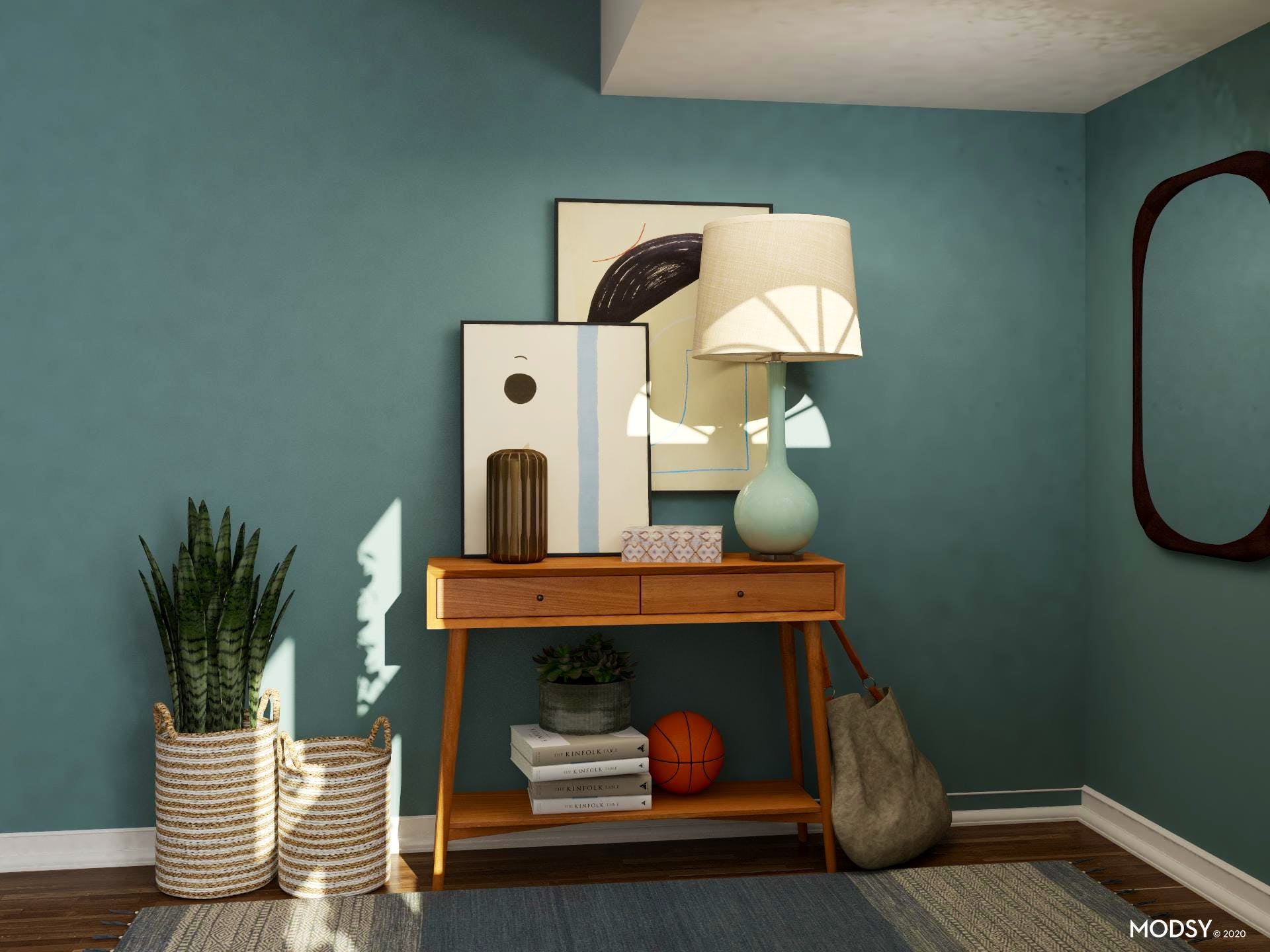 Hues Of Blue: Entryway Design