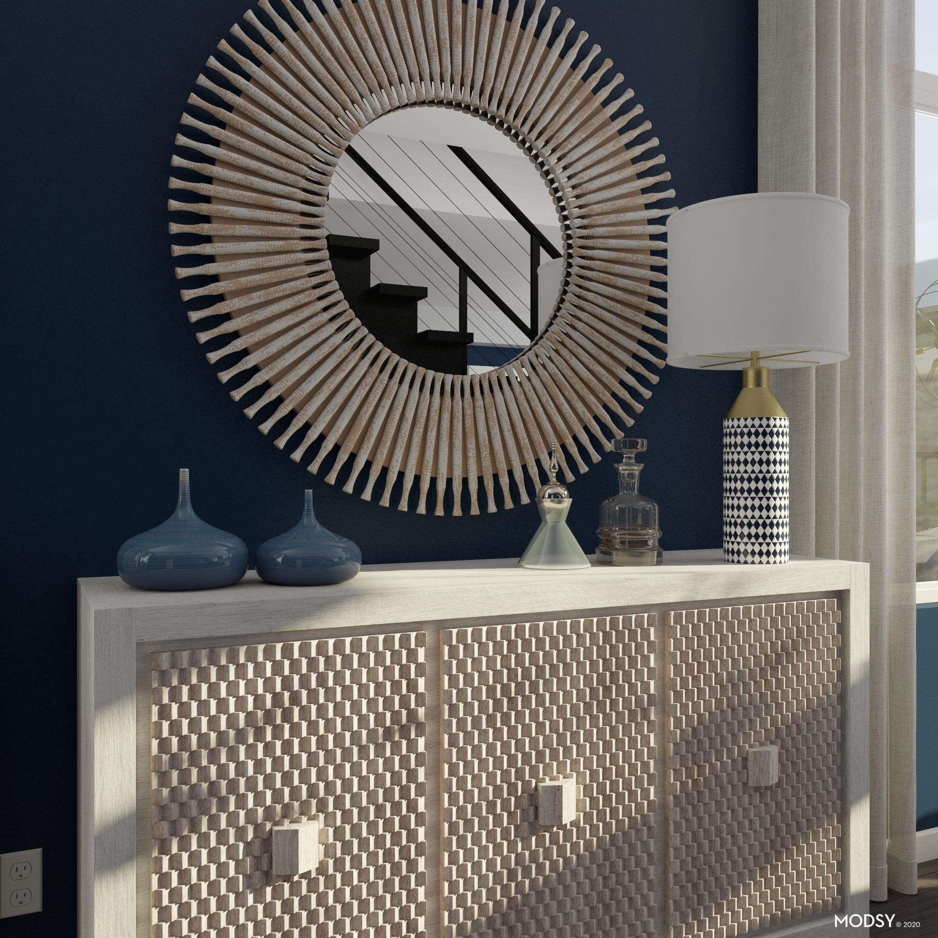 Sideboard Styling in Contemporary Dining Room