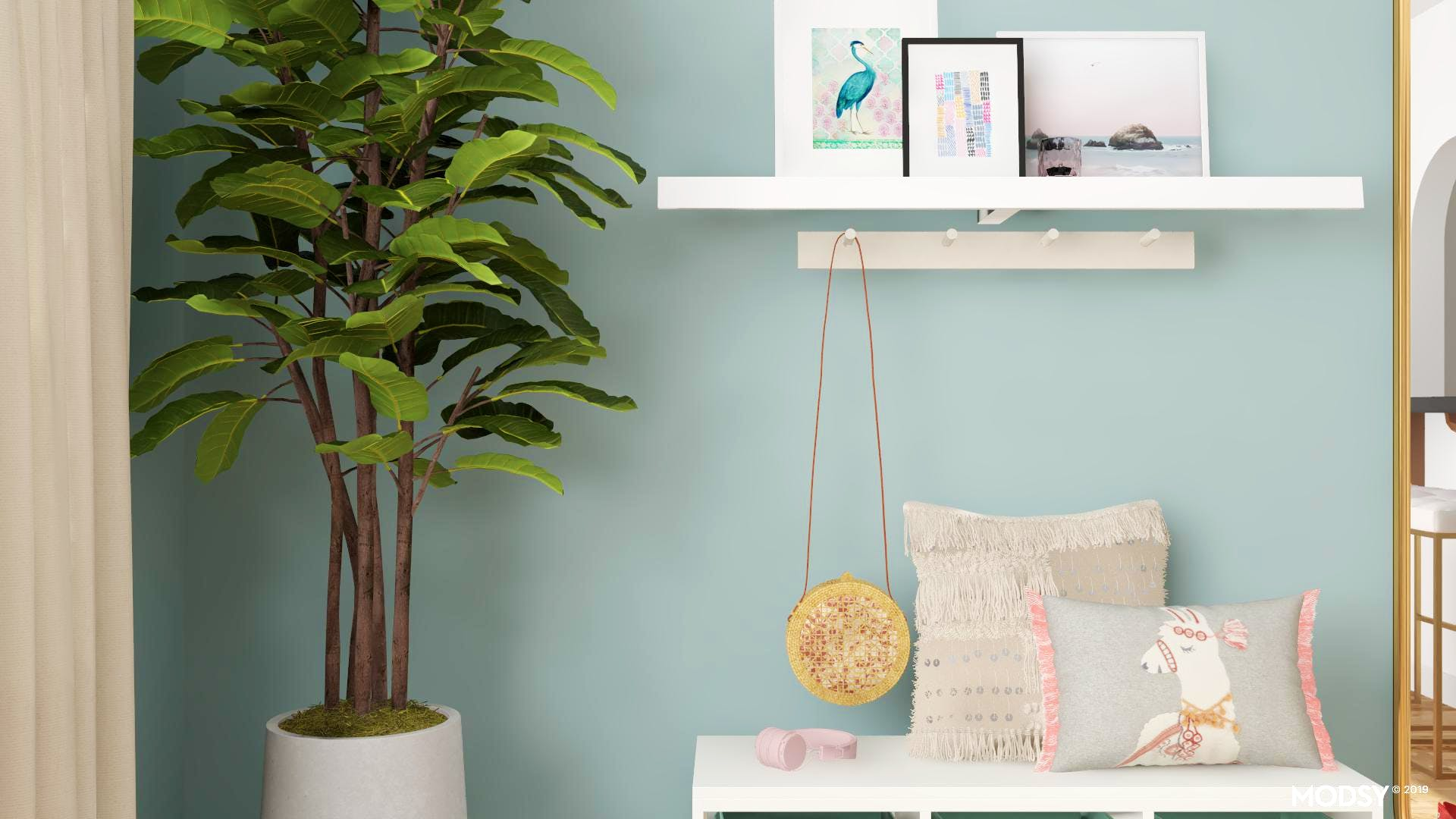 Modern Entry Styled with Pastels
