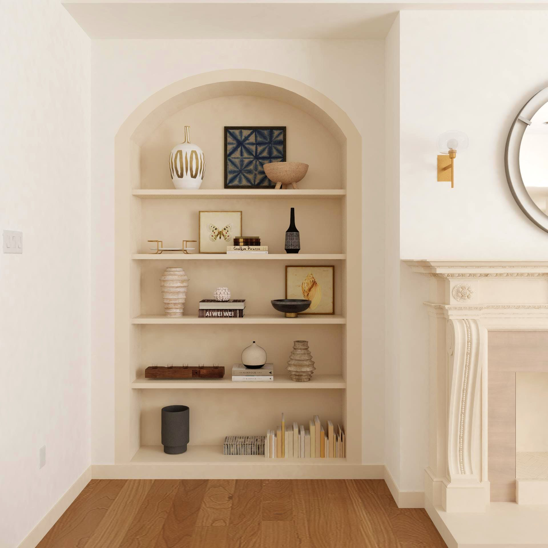 Shelves With Eclectic Decor