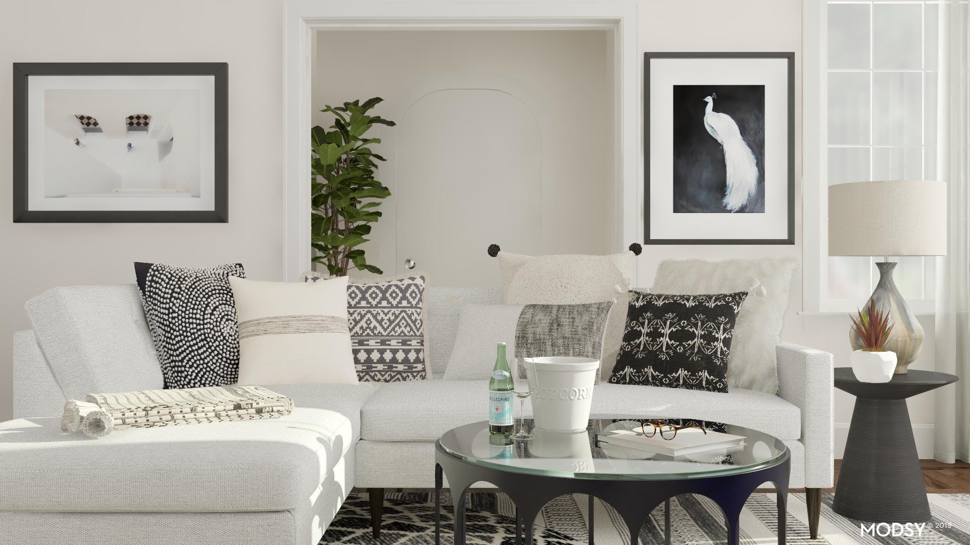 Eclectic Living Room with Elegance at its Core