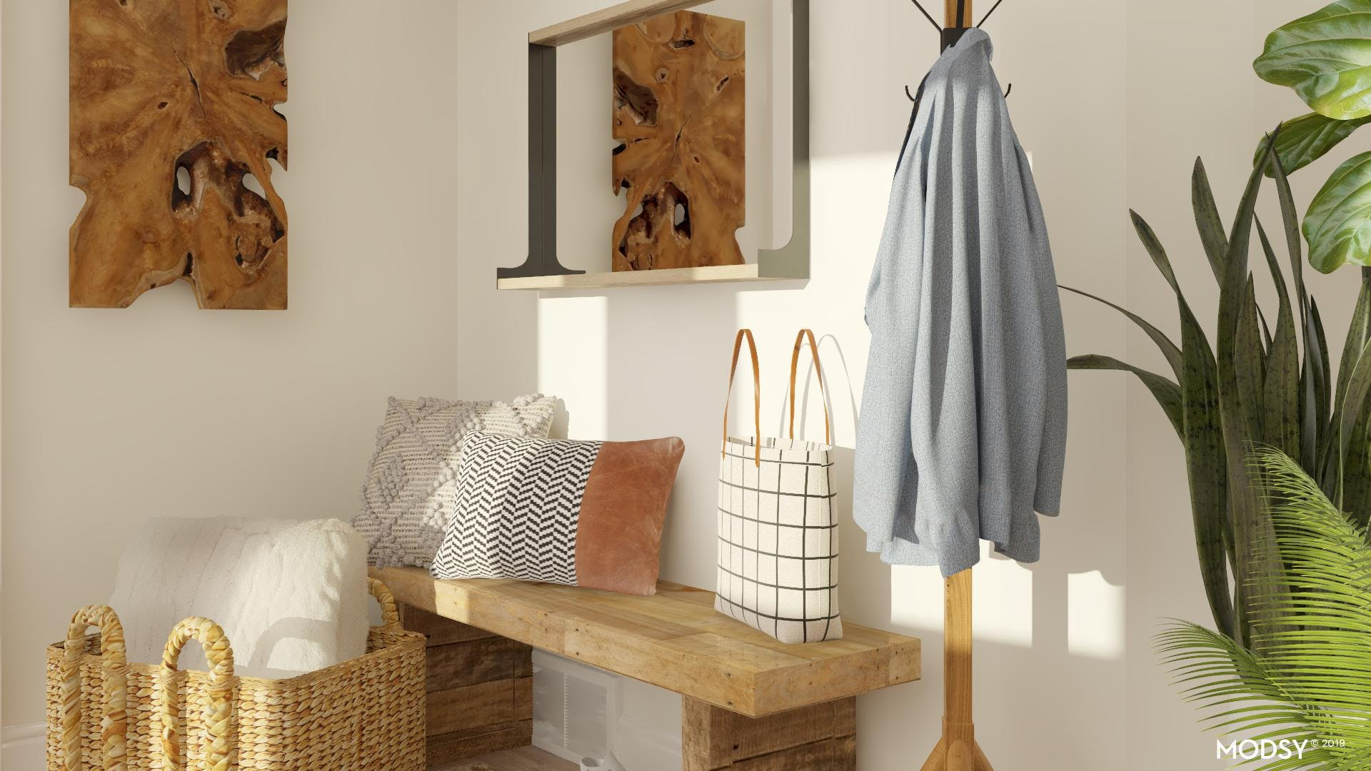 Neutral and Rustic Entry