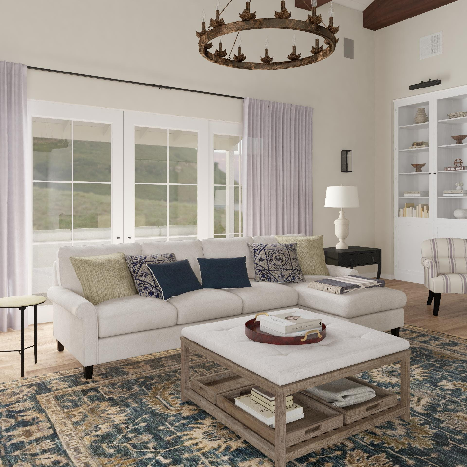 New Traditional Home: Sectional Chaise