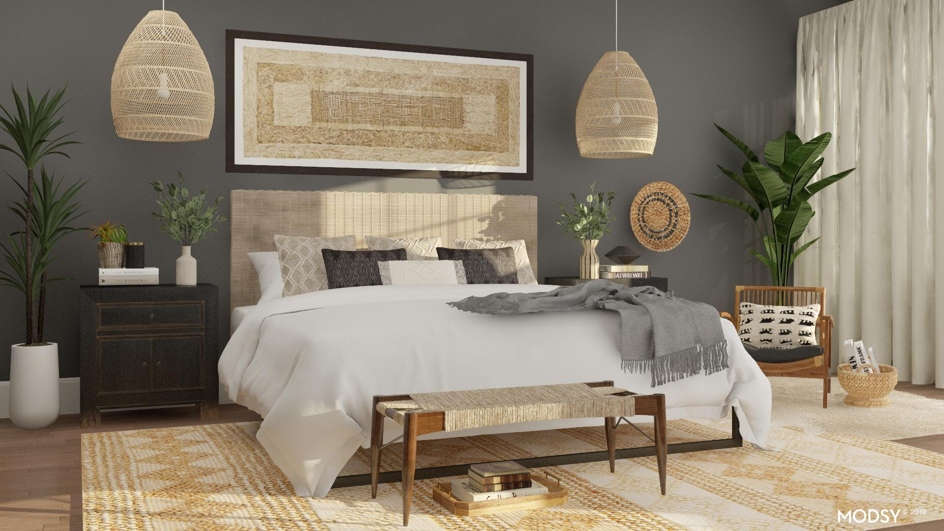 A Bedroom Filled With Natural Textures
