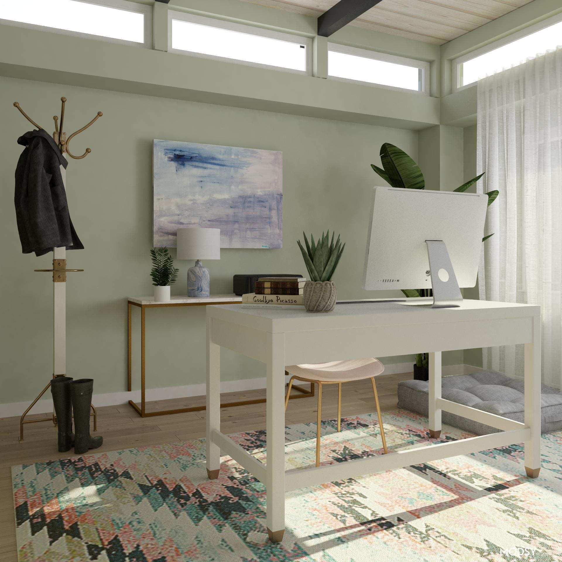 Pastels in Contemporary Space