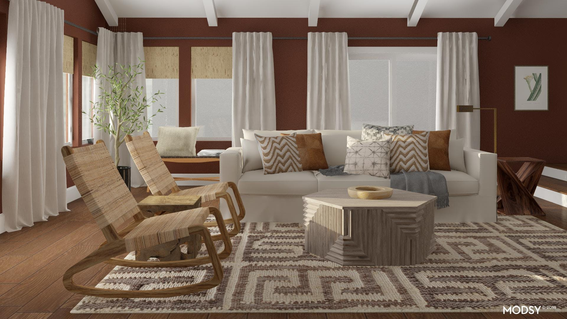 Eclectic Bold Earthy  Living Room