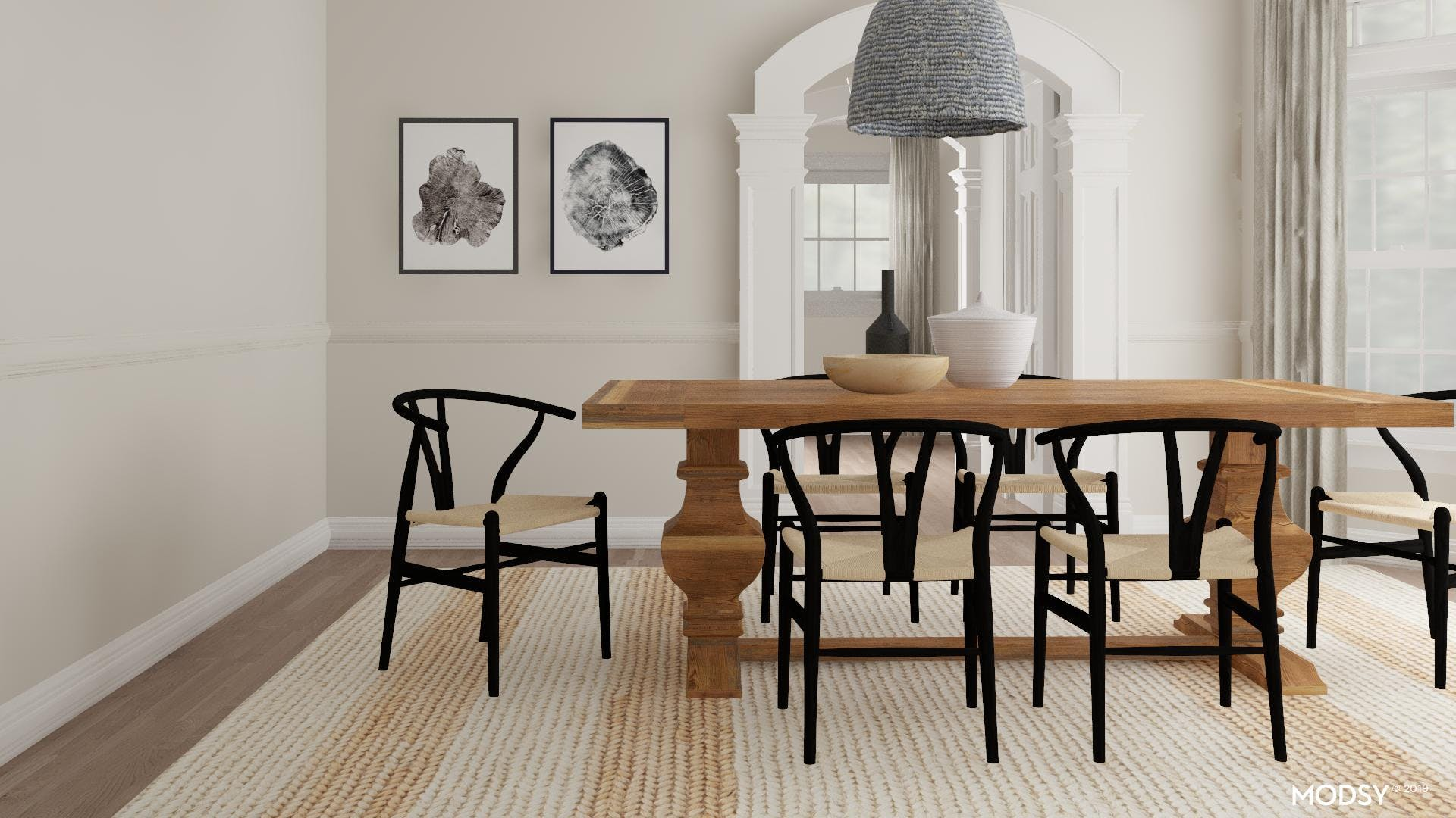 Modern Dining Room with a Rustic Twist!