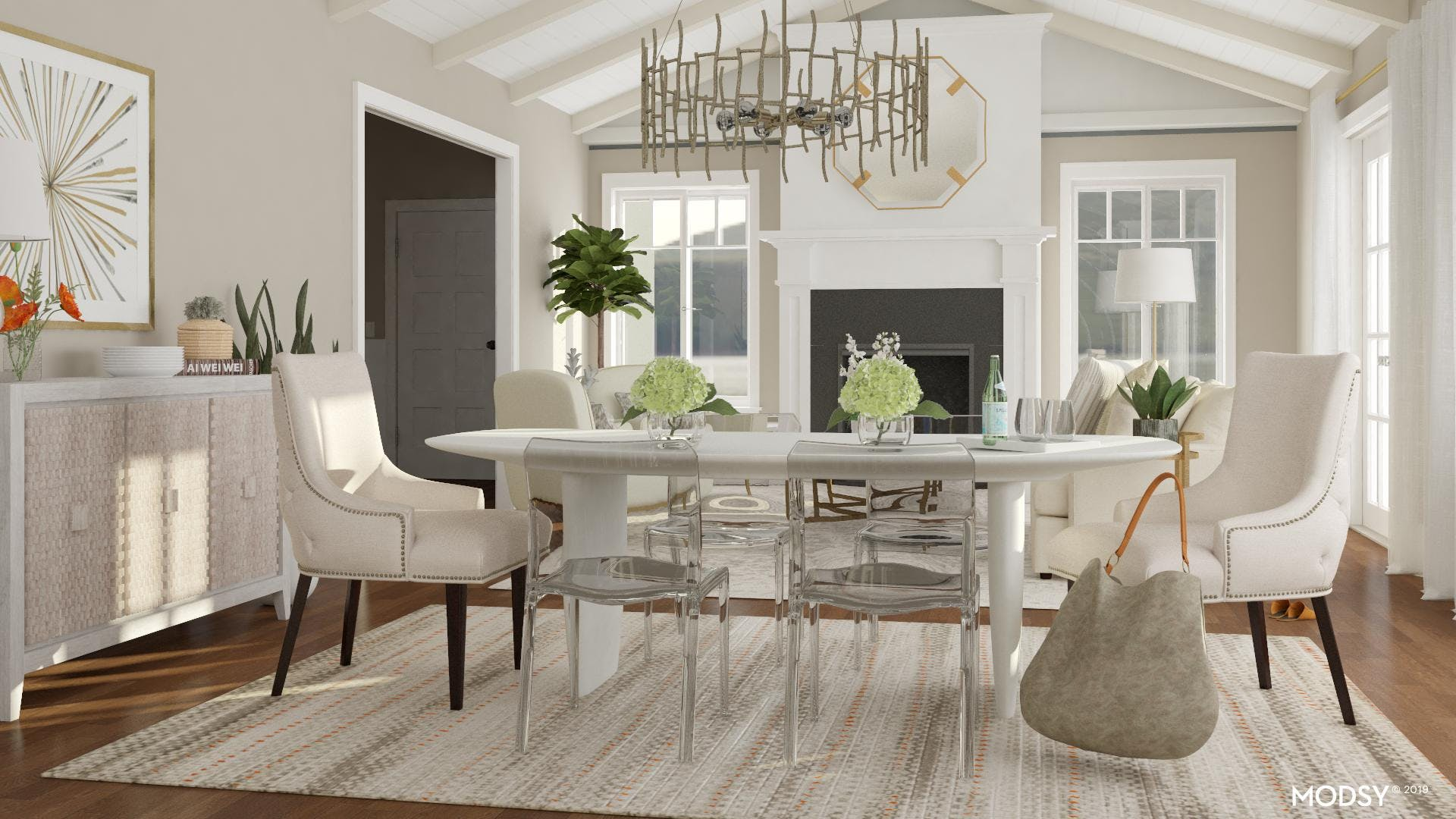 Eclectic Chair Mix: Glam Dining