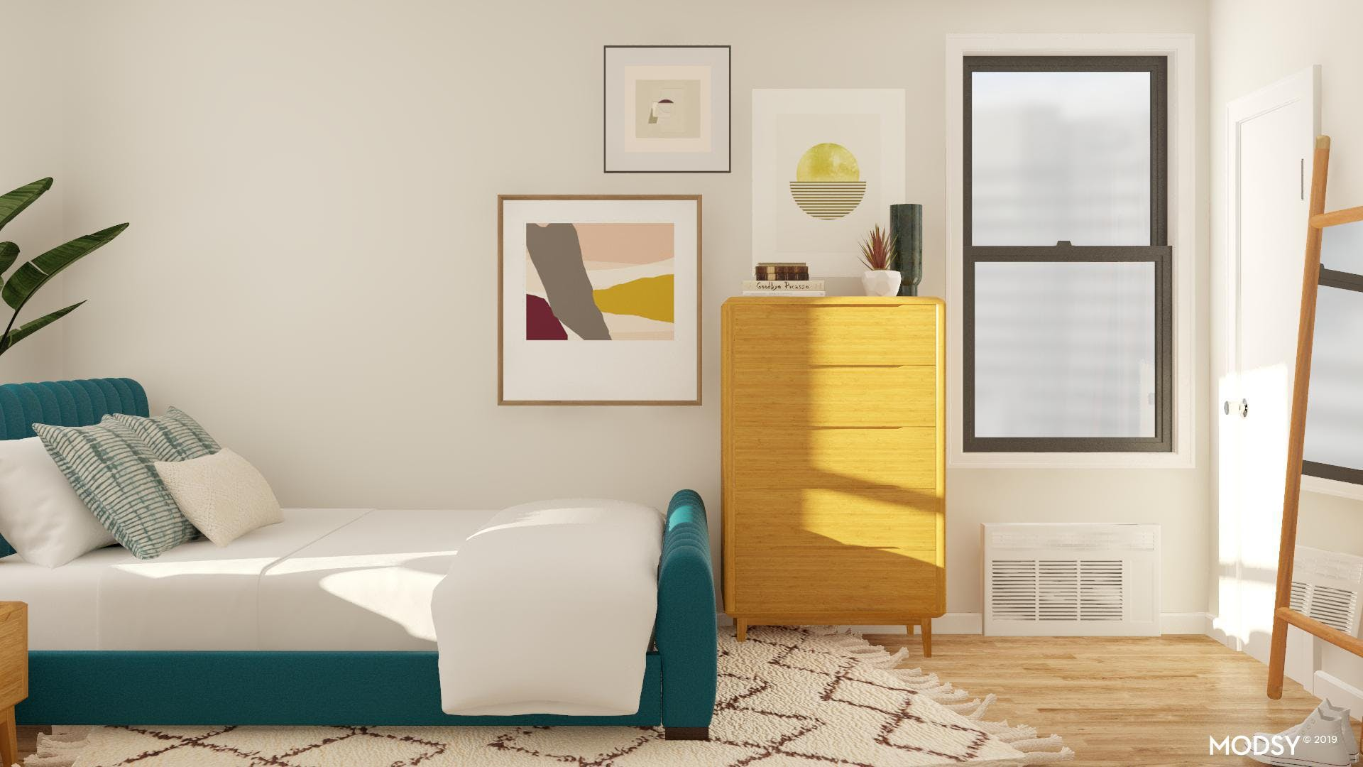 Mid-Century Bedroom with a punch!