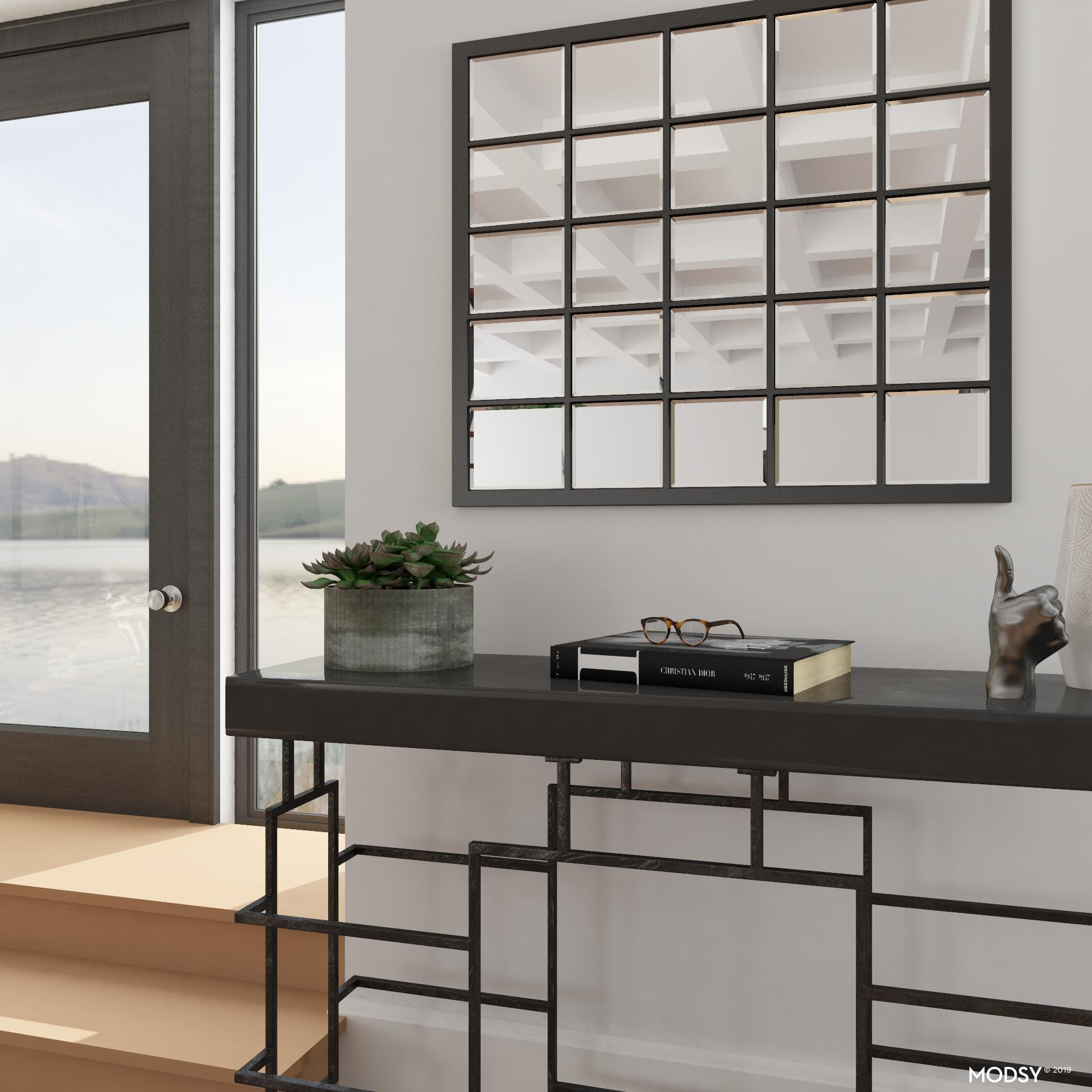 Black And White: A Modern Entryway