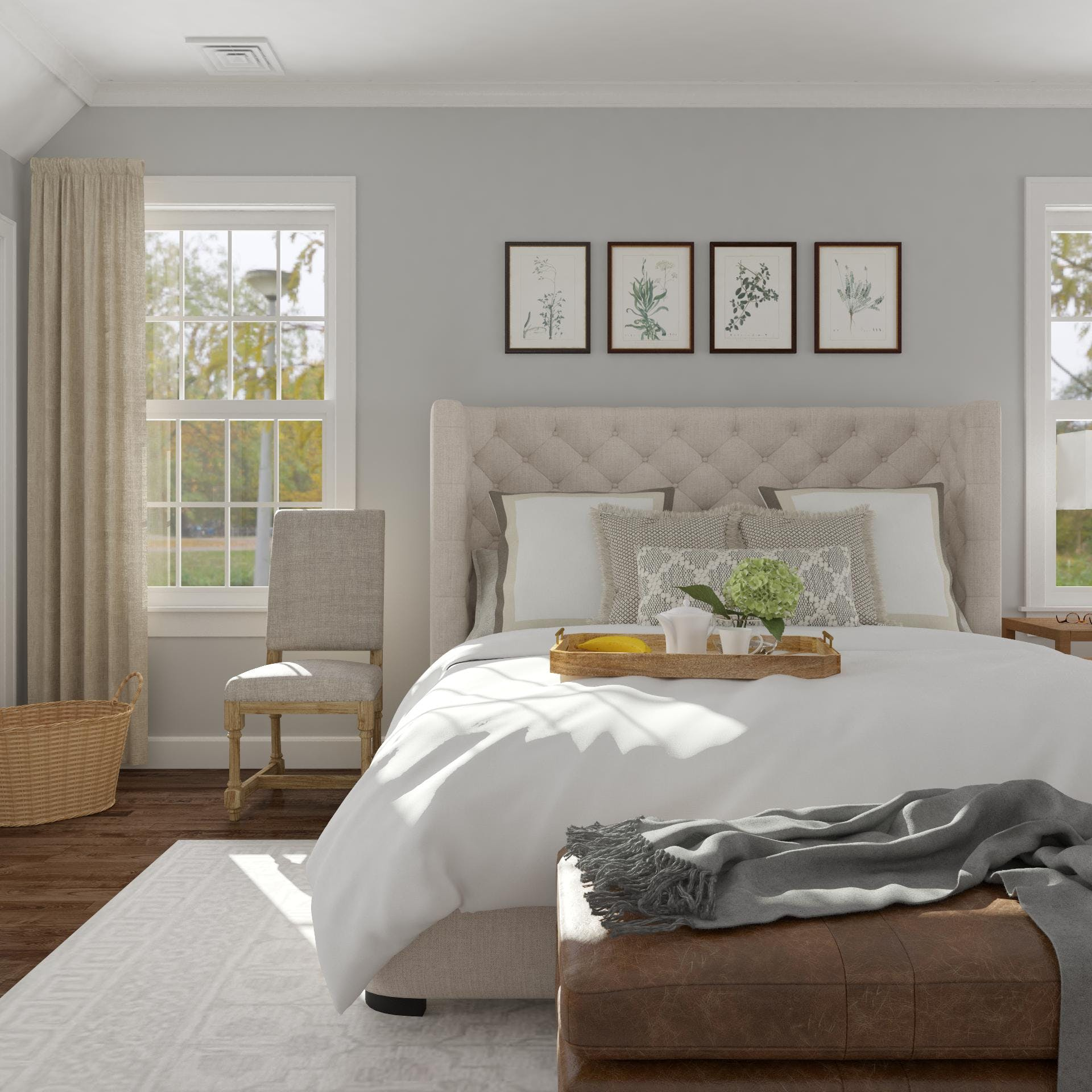 Tranquil Traditional Bedroom with Layers of Cozy Comfort