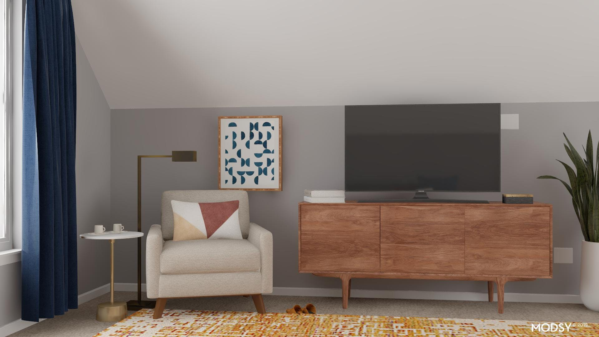 Maximizing Seating In A Mid-Century Living Room