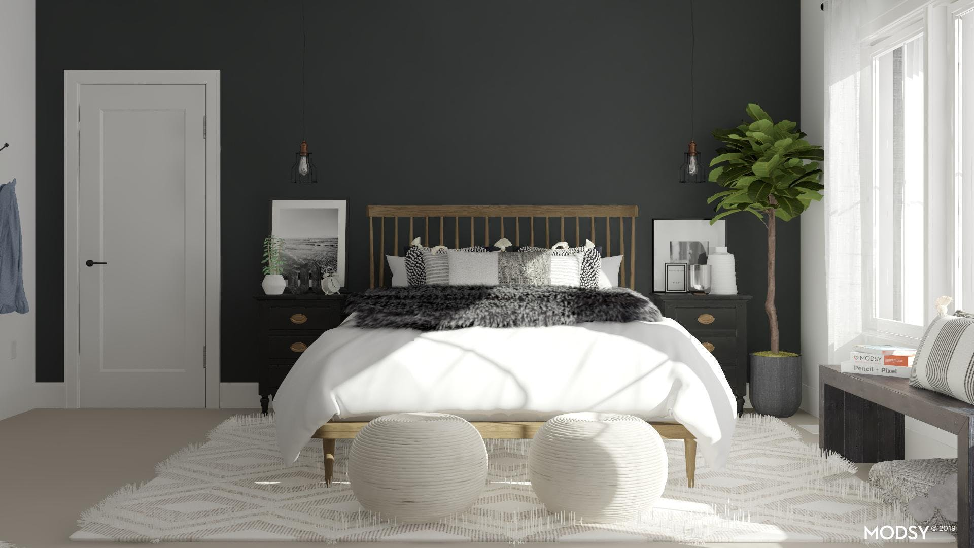 Black And White And Chic: Bedroom