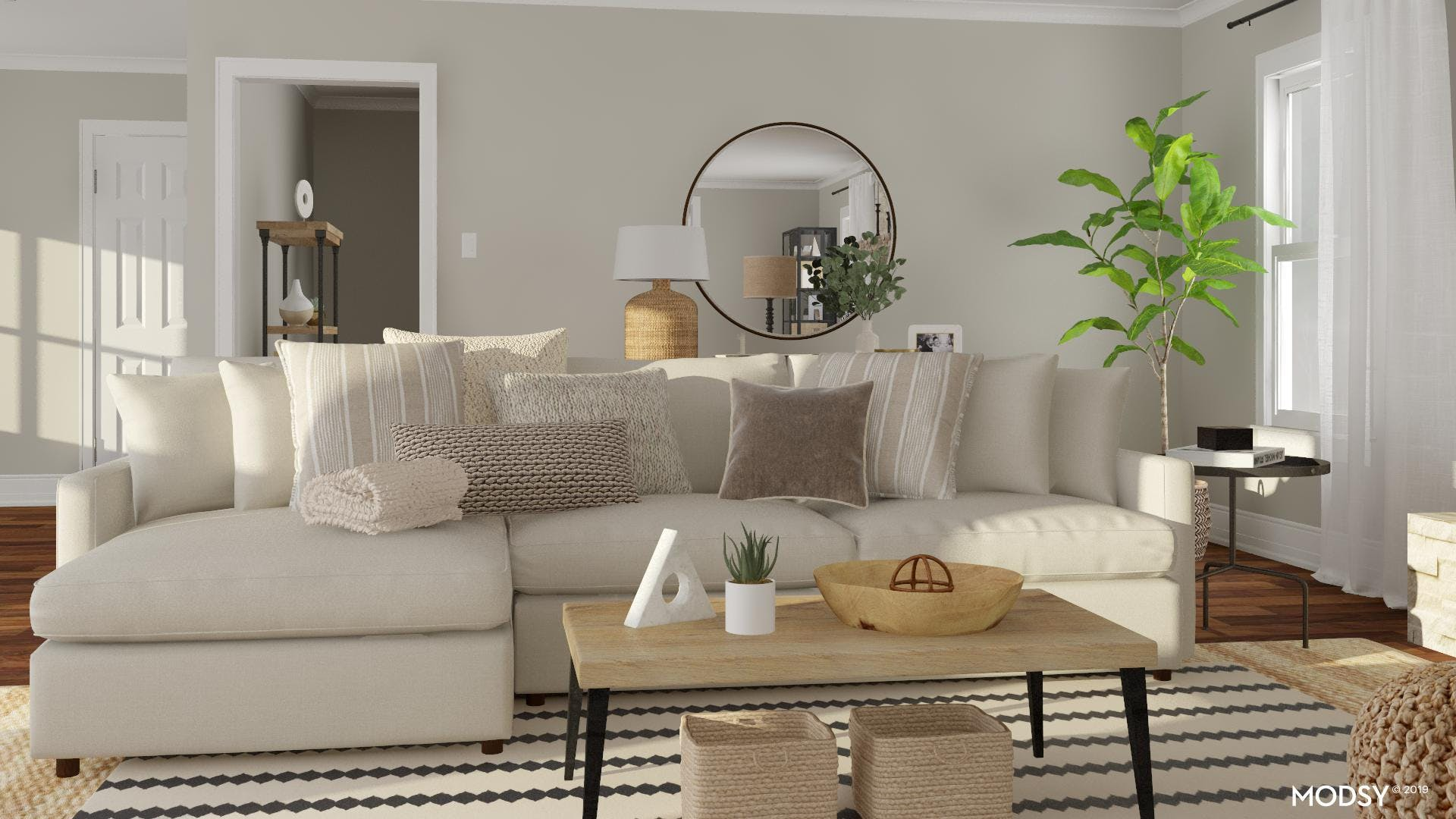 Rustic Neutral Sofa Styling
