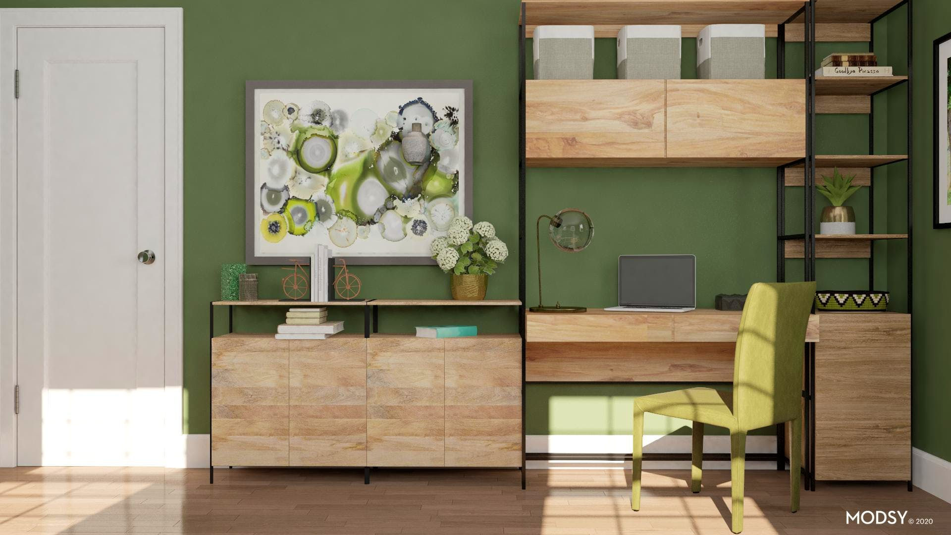 Industrial Green Home Office