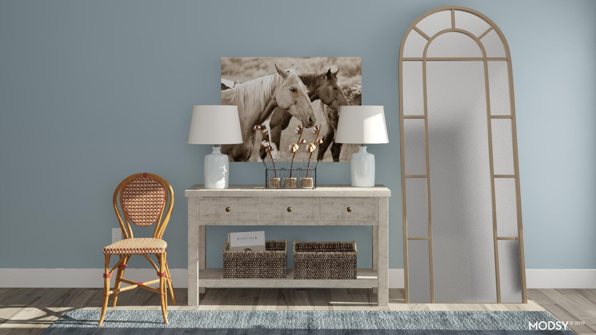 A Coastal Entry With A Rustic Spin