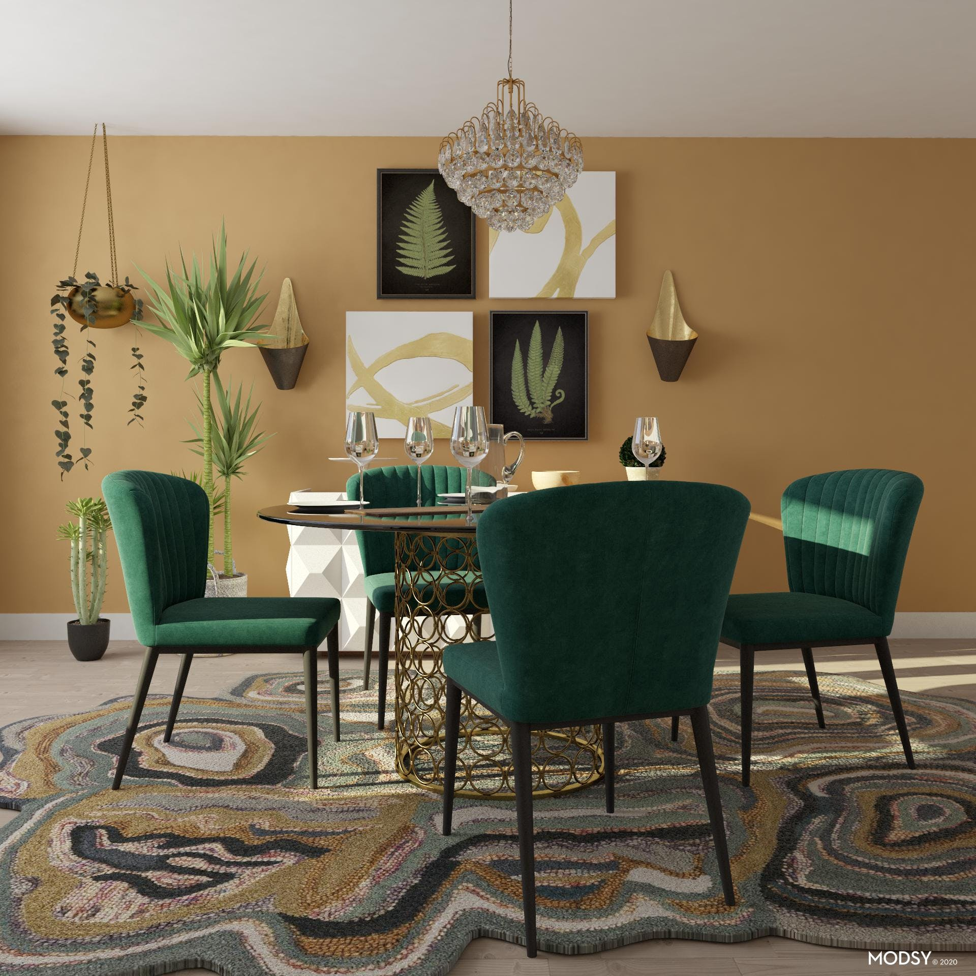 Cozy and Glam Dining