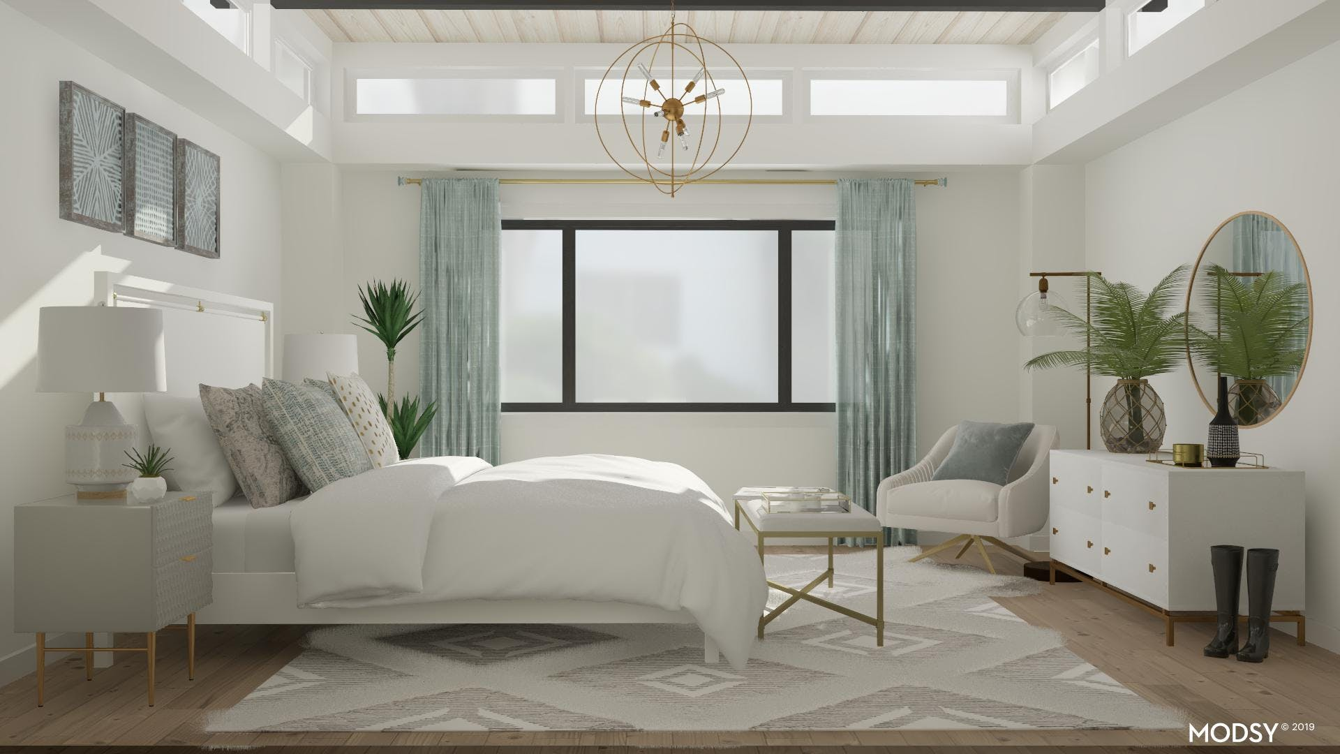 Serene And Neutral Mid Century